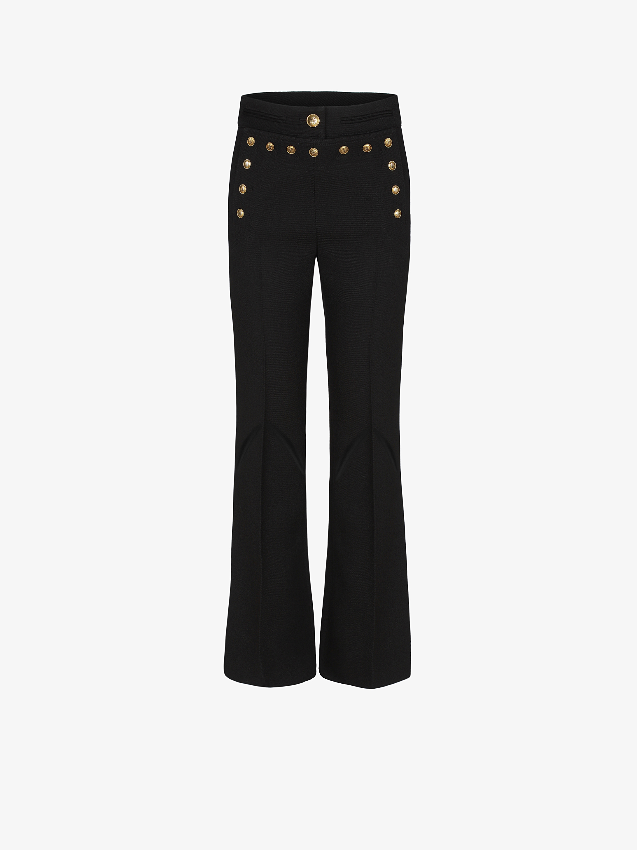 Flared sailor trousers with 4G buttons
