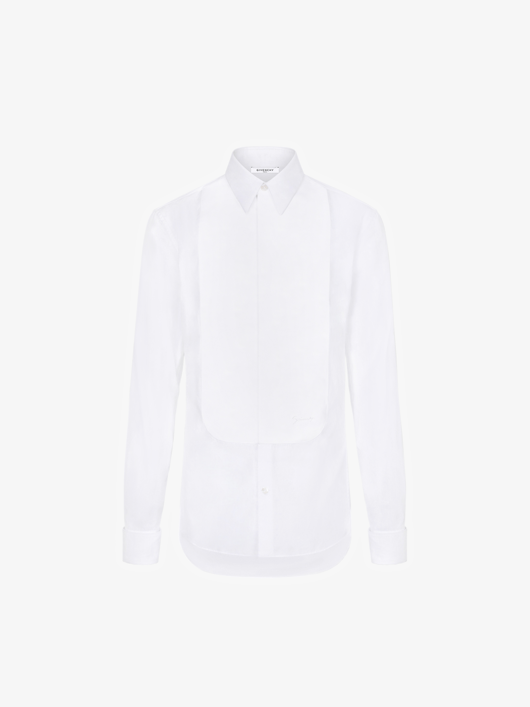 GIVENCHY slim fit embroidered plastron shirt