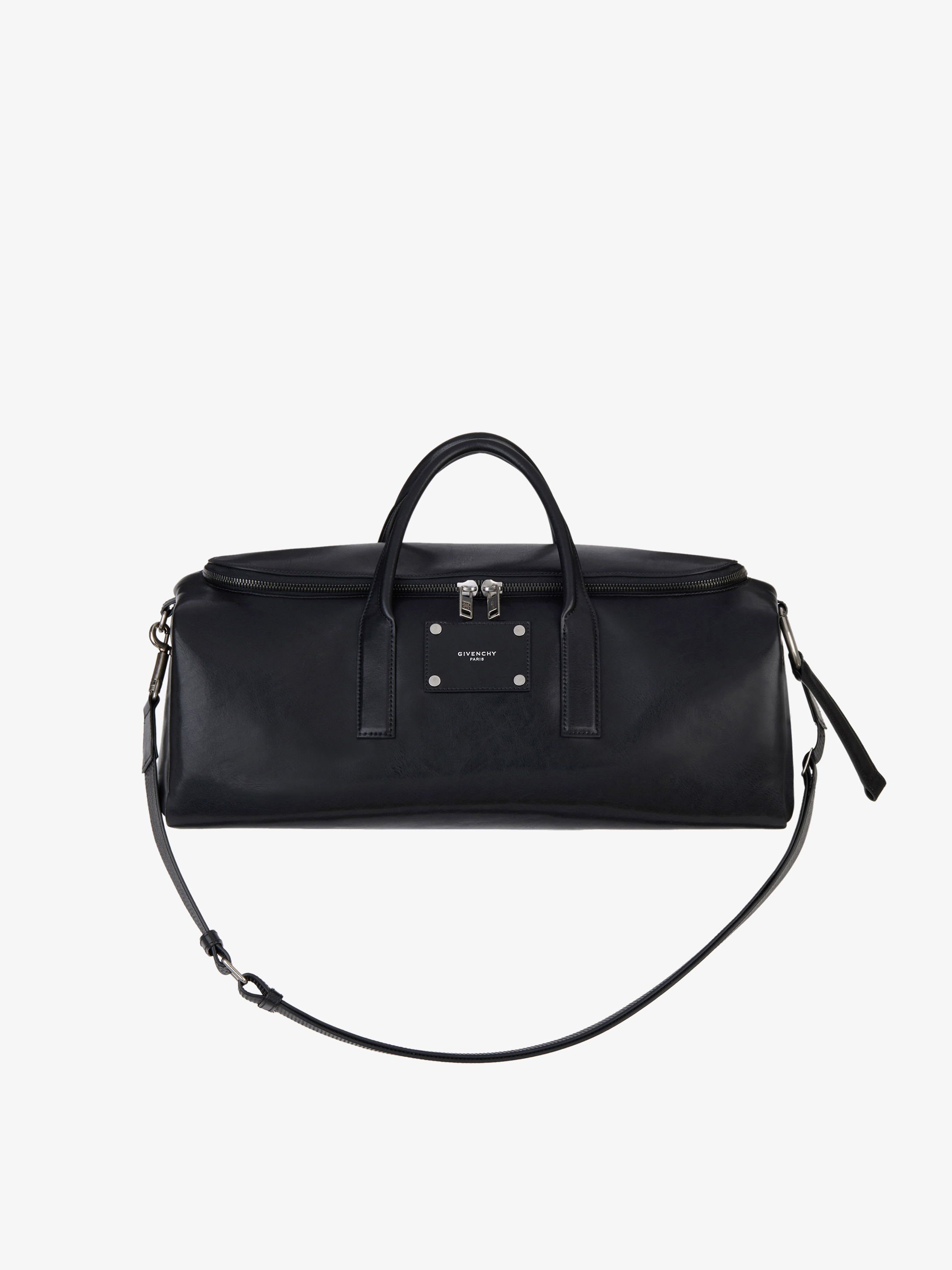 Givenchy tag weekender bag in smooth leather