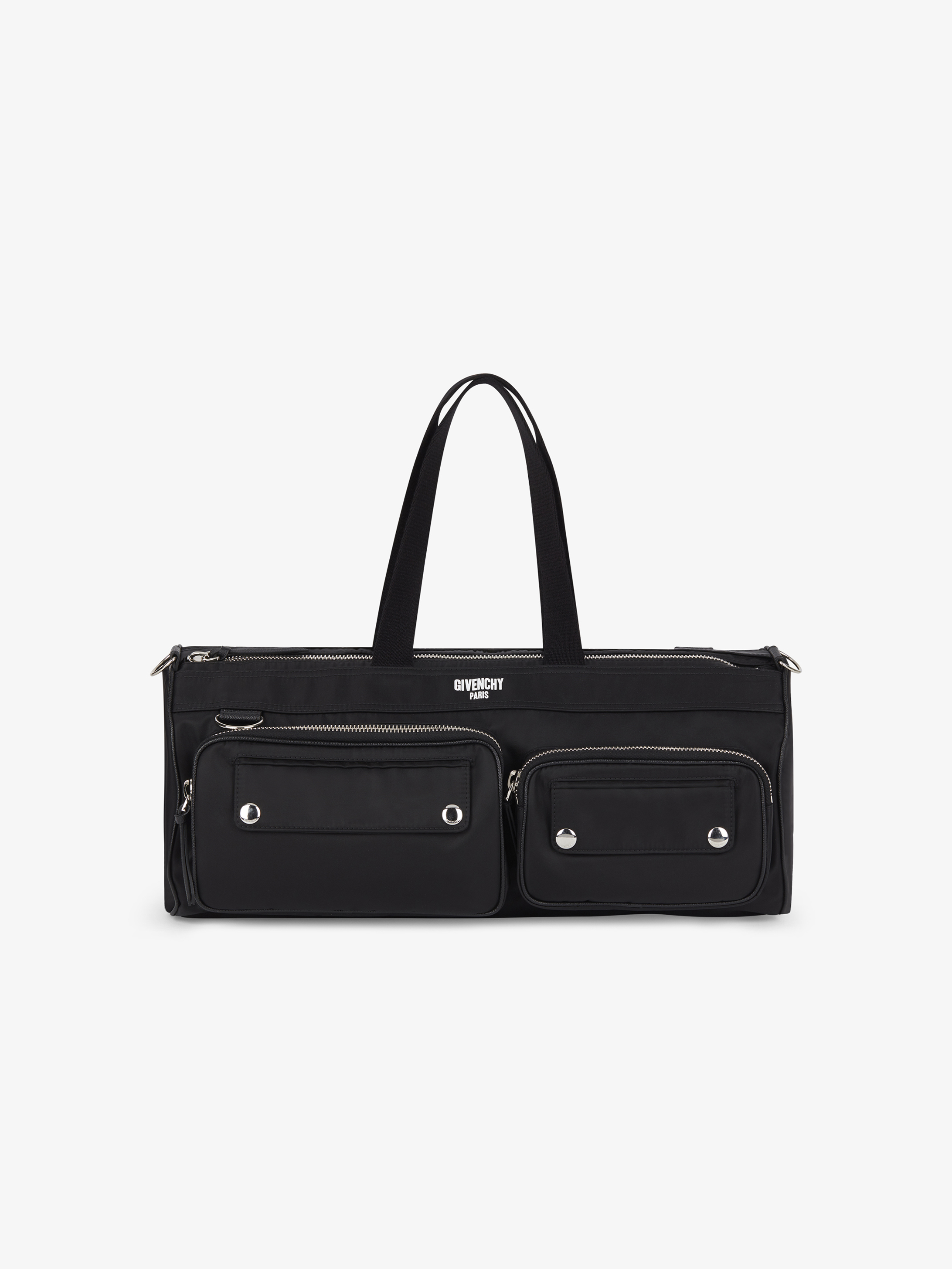 895ccf74a519 Givenchy PARIS printed duffle bag in nylon