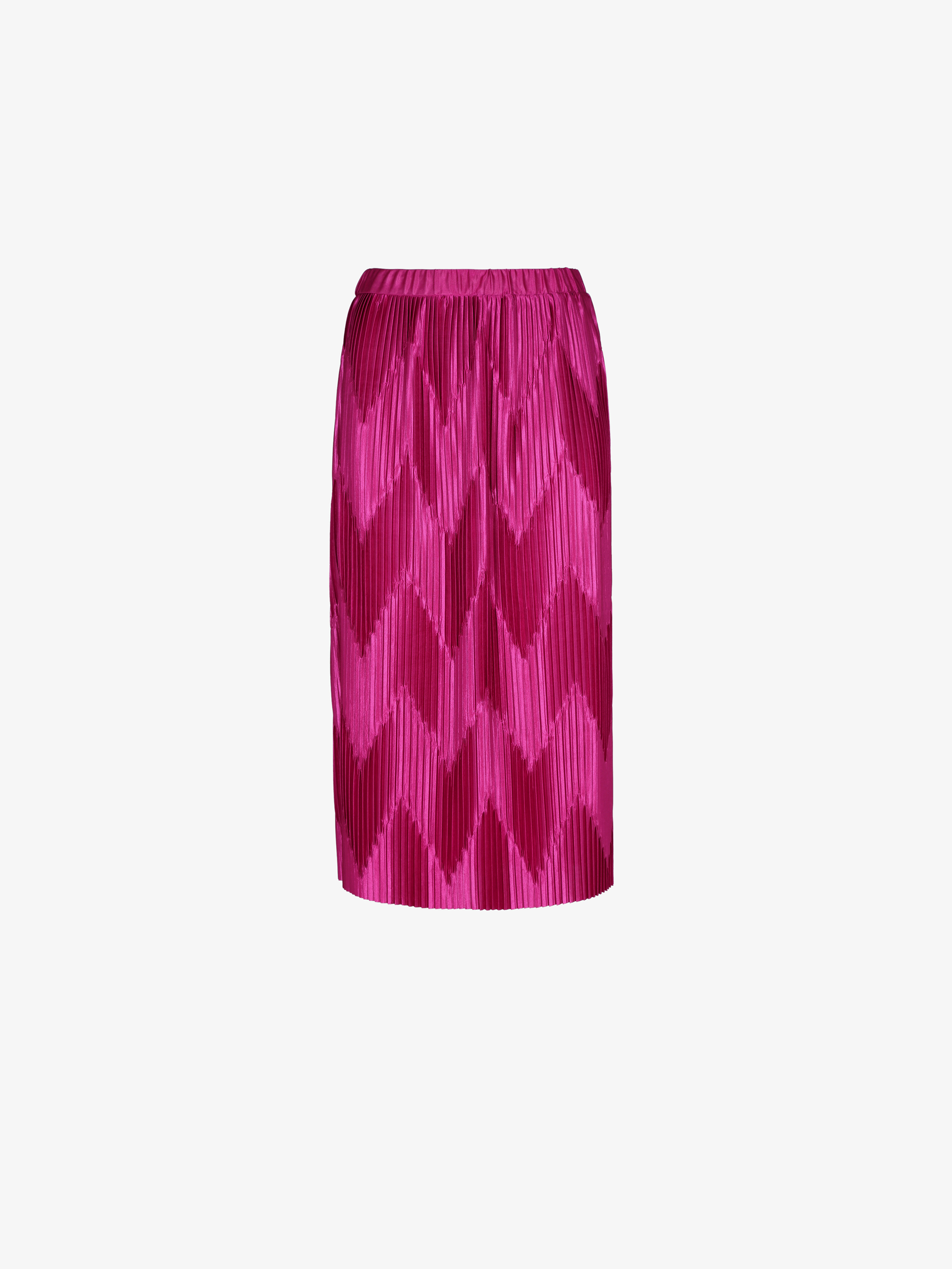 Zig-Zag pleated midi skirt