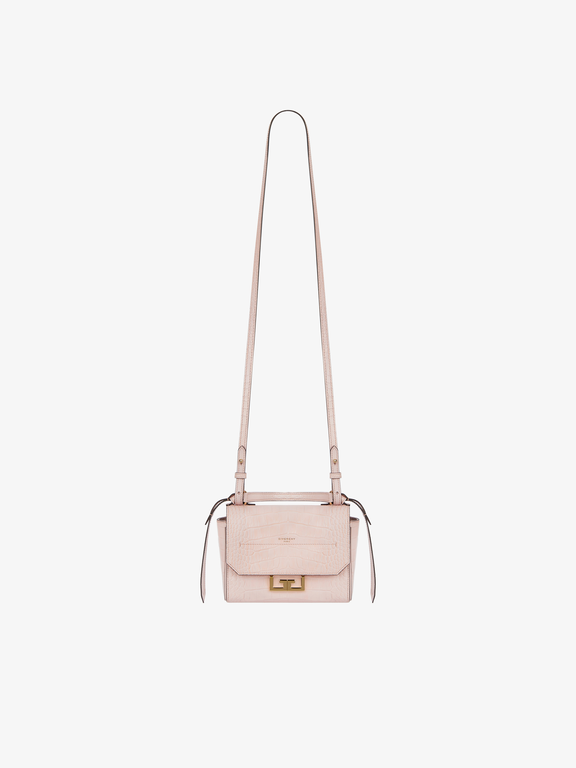 Mini Eden bag in crocodile-effect leather