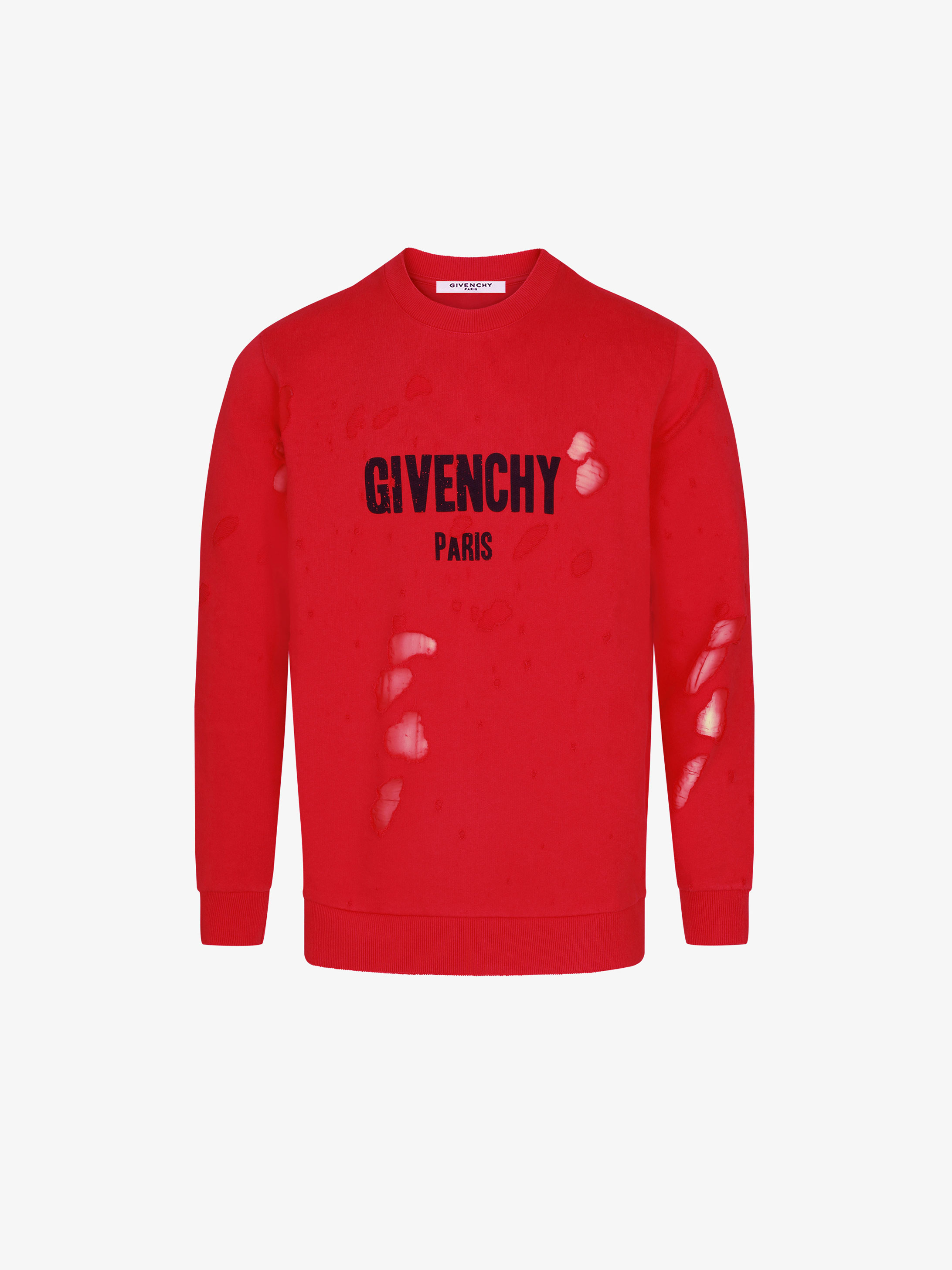 Sweatshirt GIVENCHY PARIS destroyed