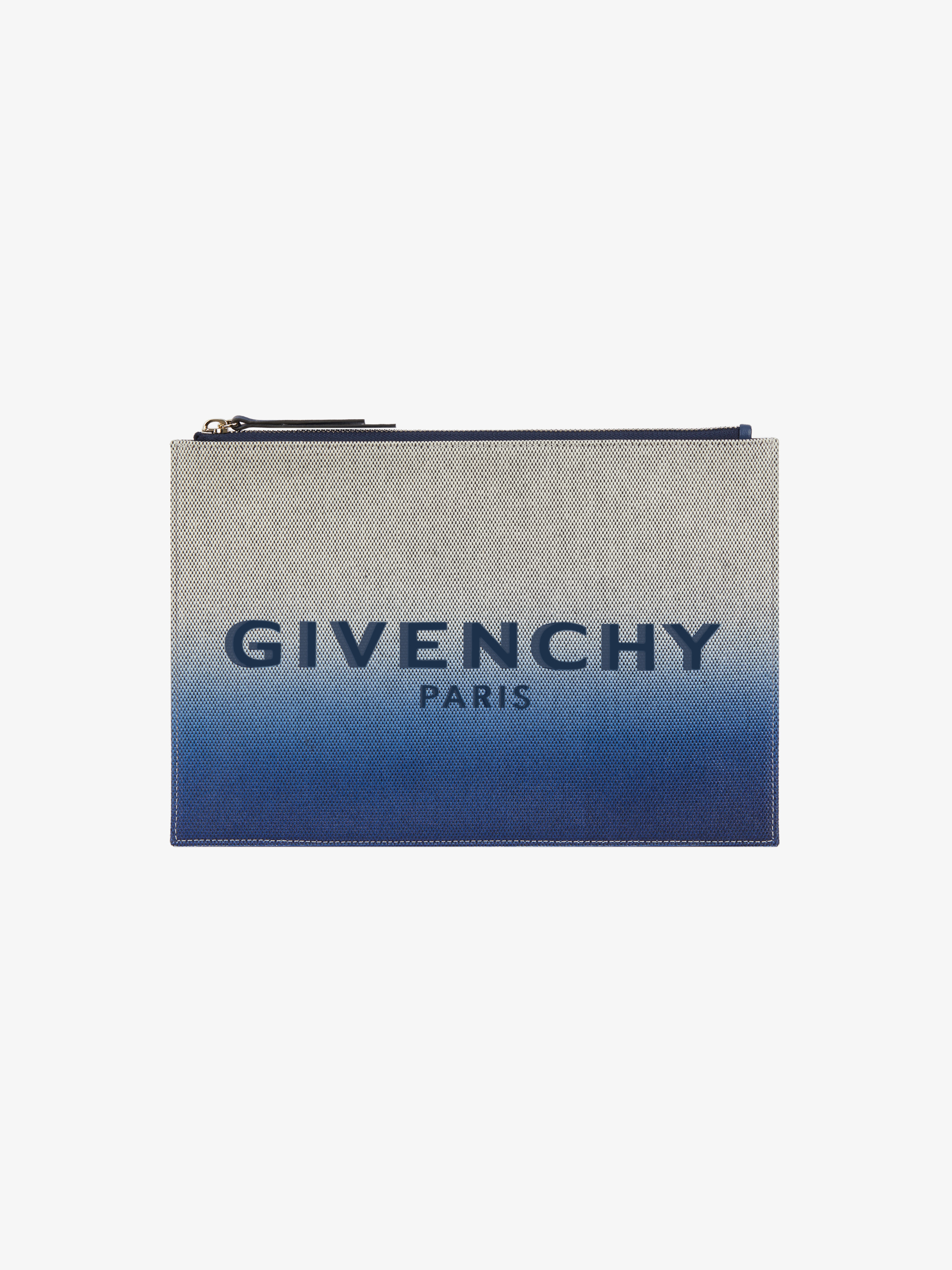 GIVENCHY PARIS medium pouch in faded canvas