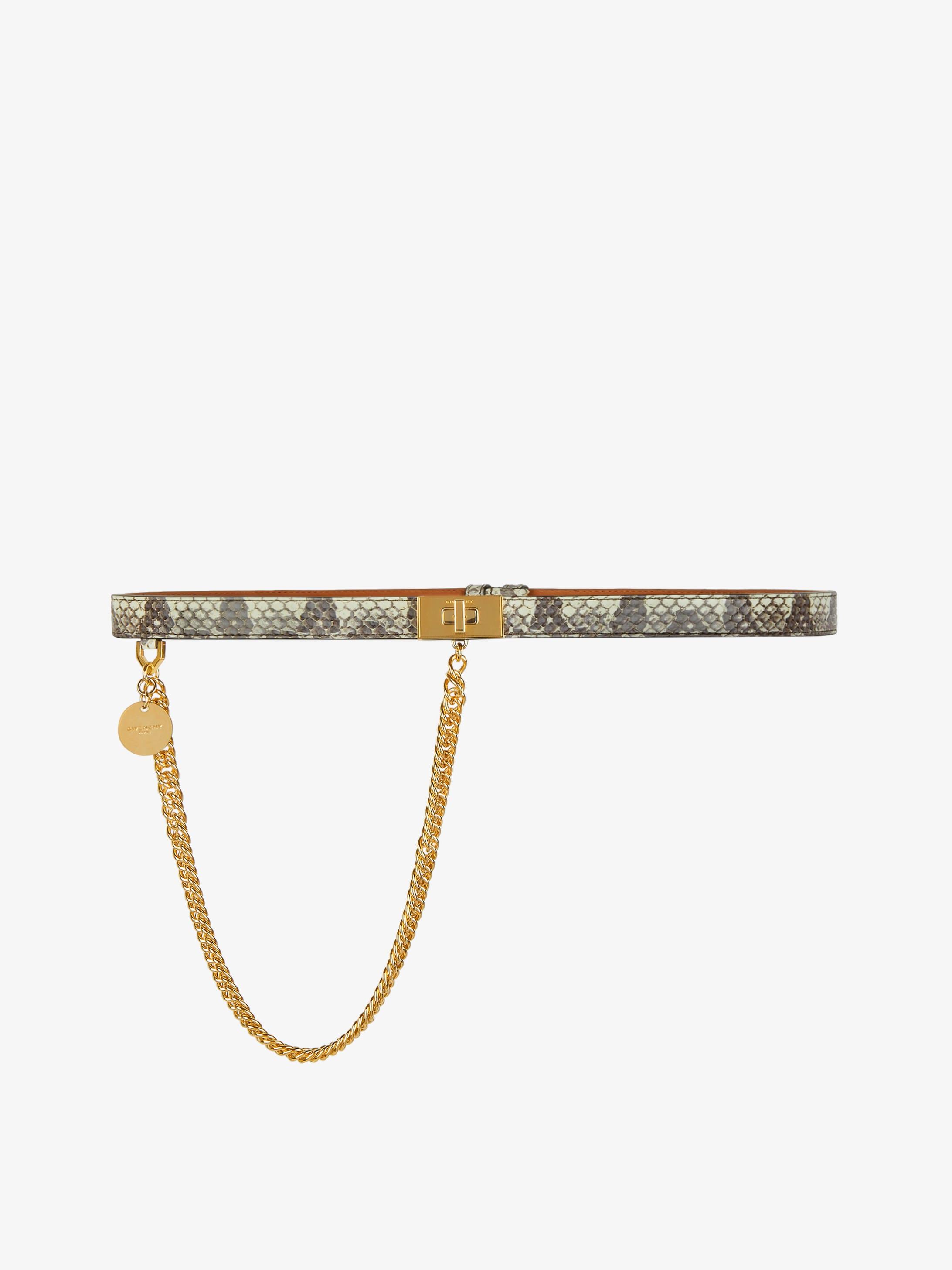 Cintura Doppia G in elafe con catena