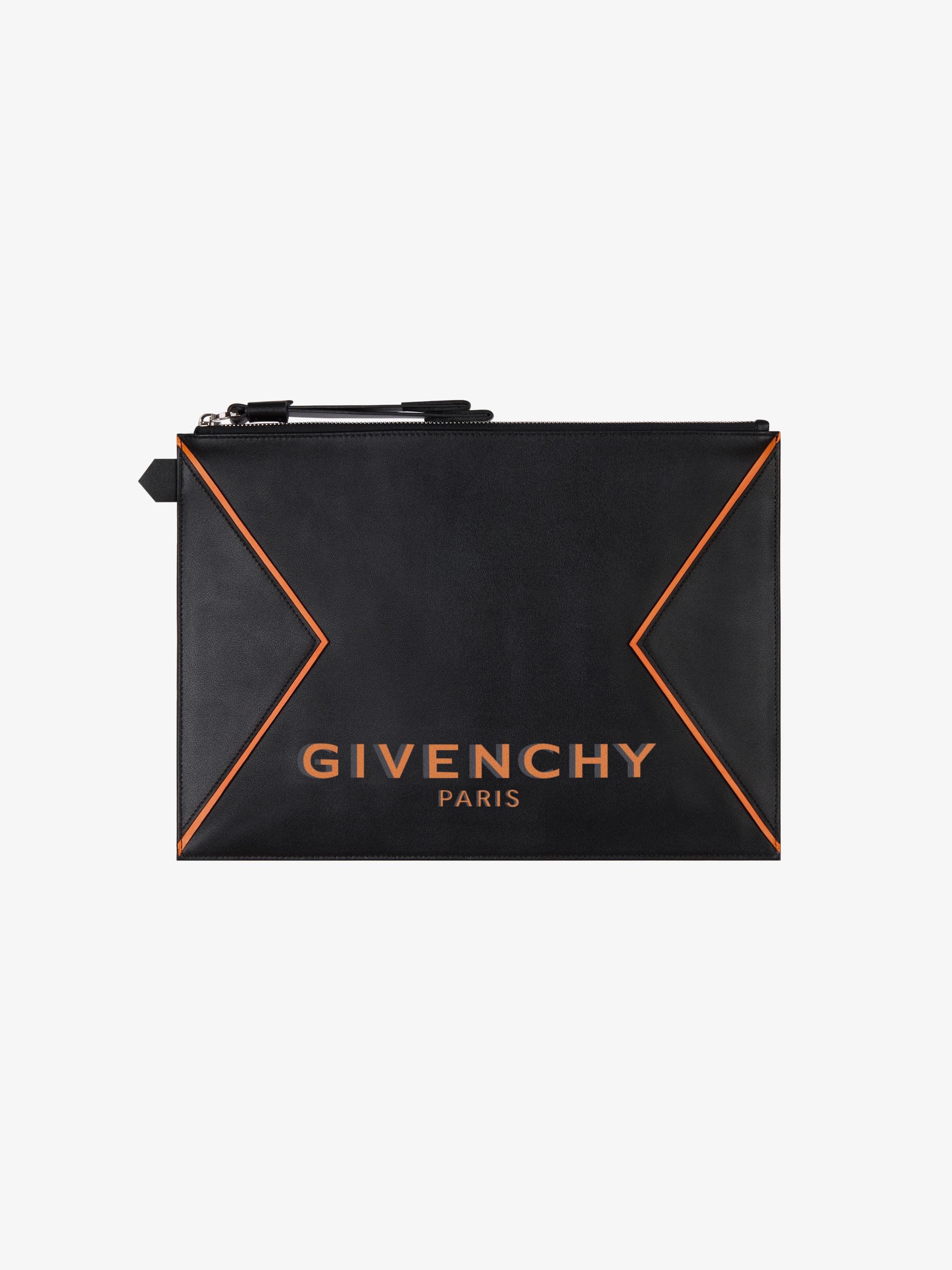 GIVENCHY PARIS large pouch in leather