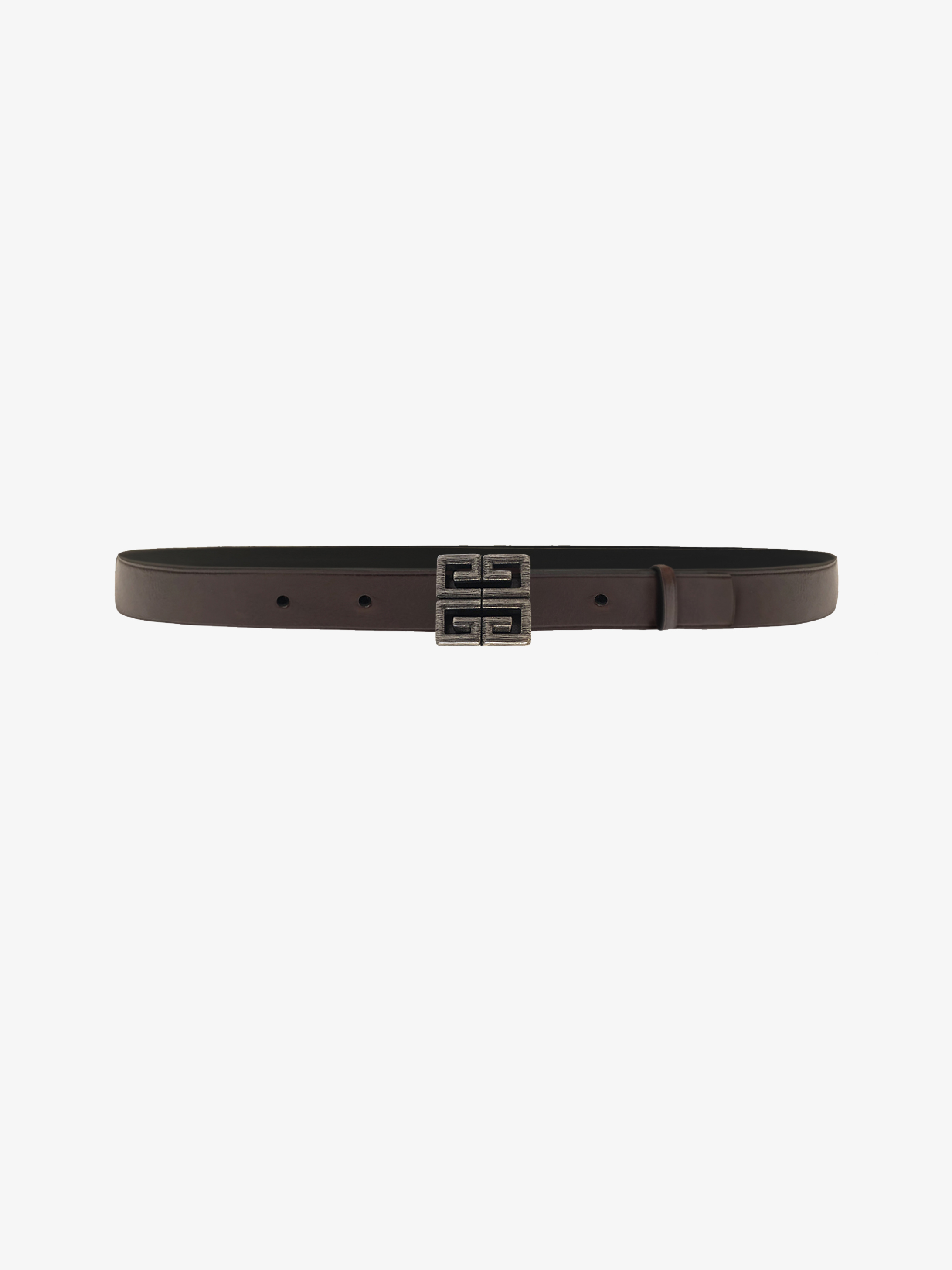 4G buckle belt in leather
