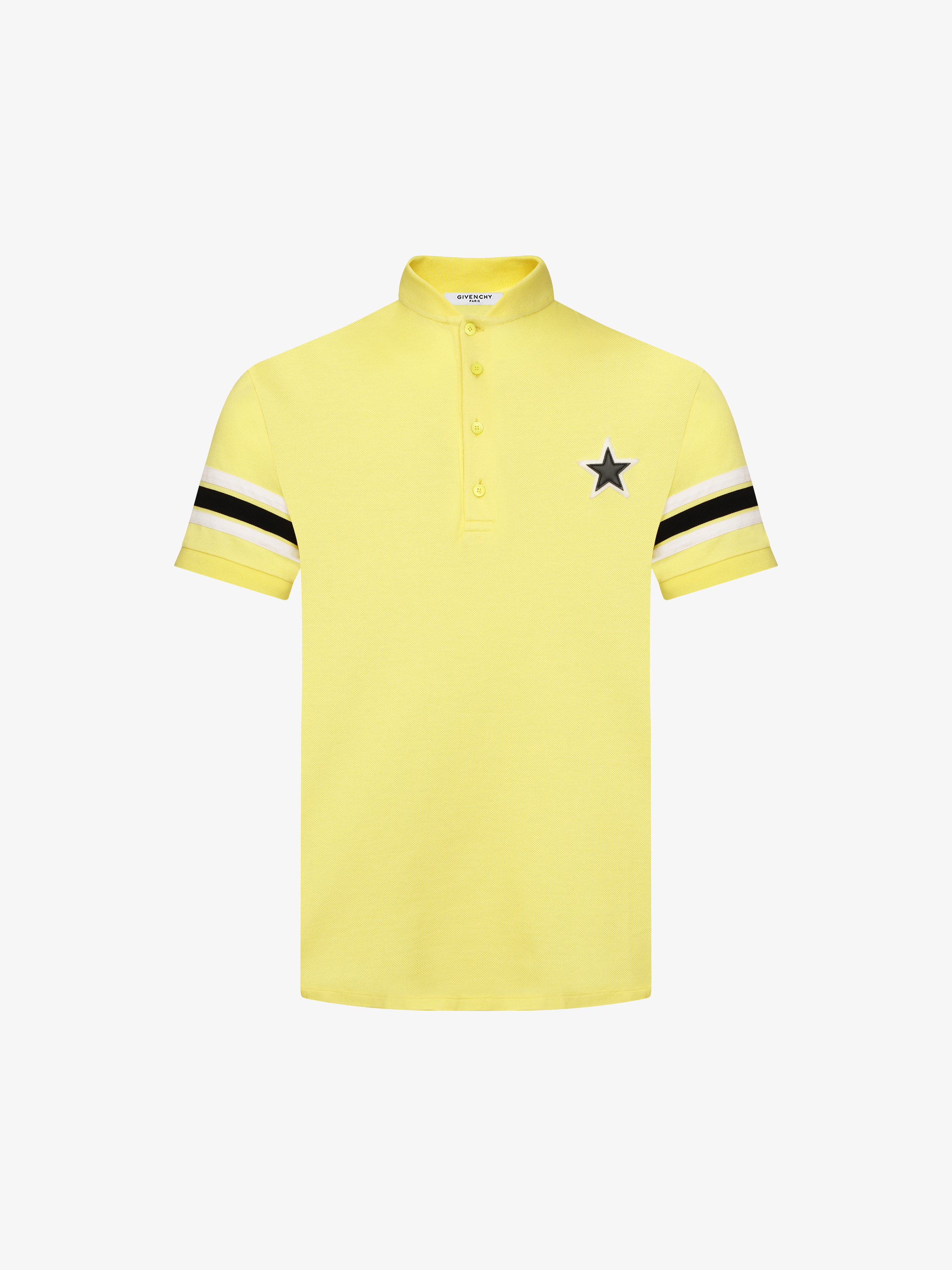 Polo with geometric design