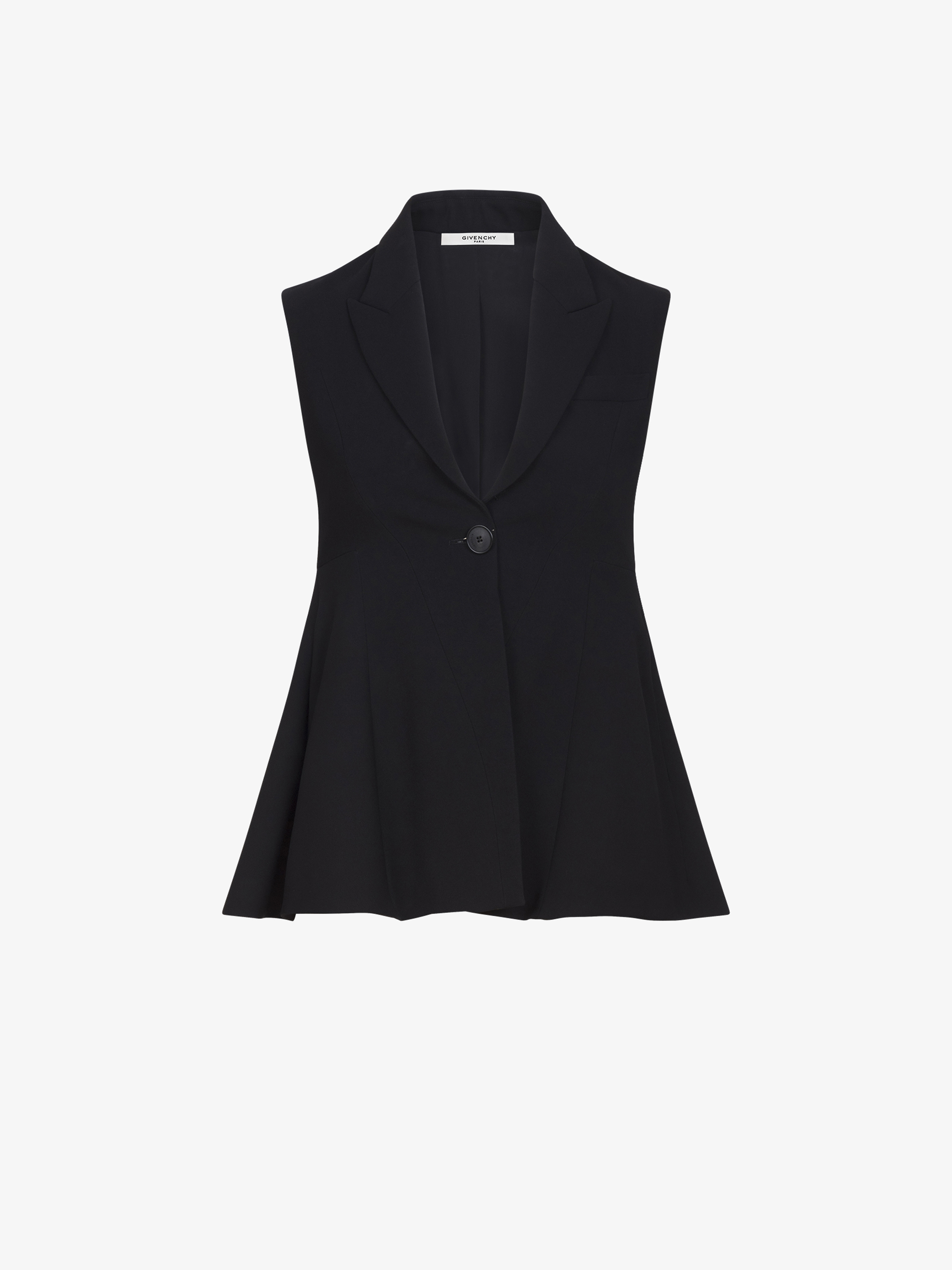Flared sleeveless jacket
