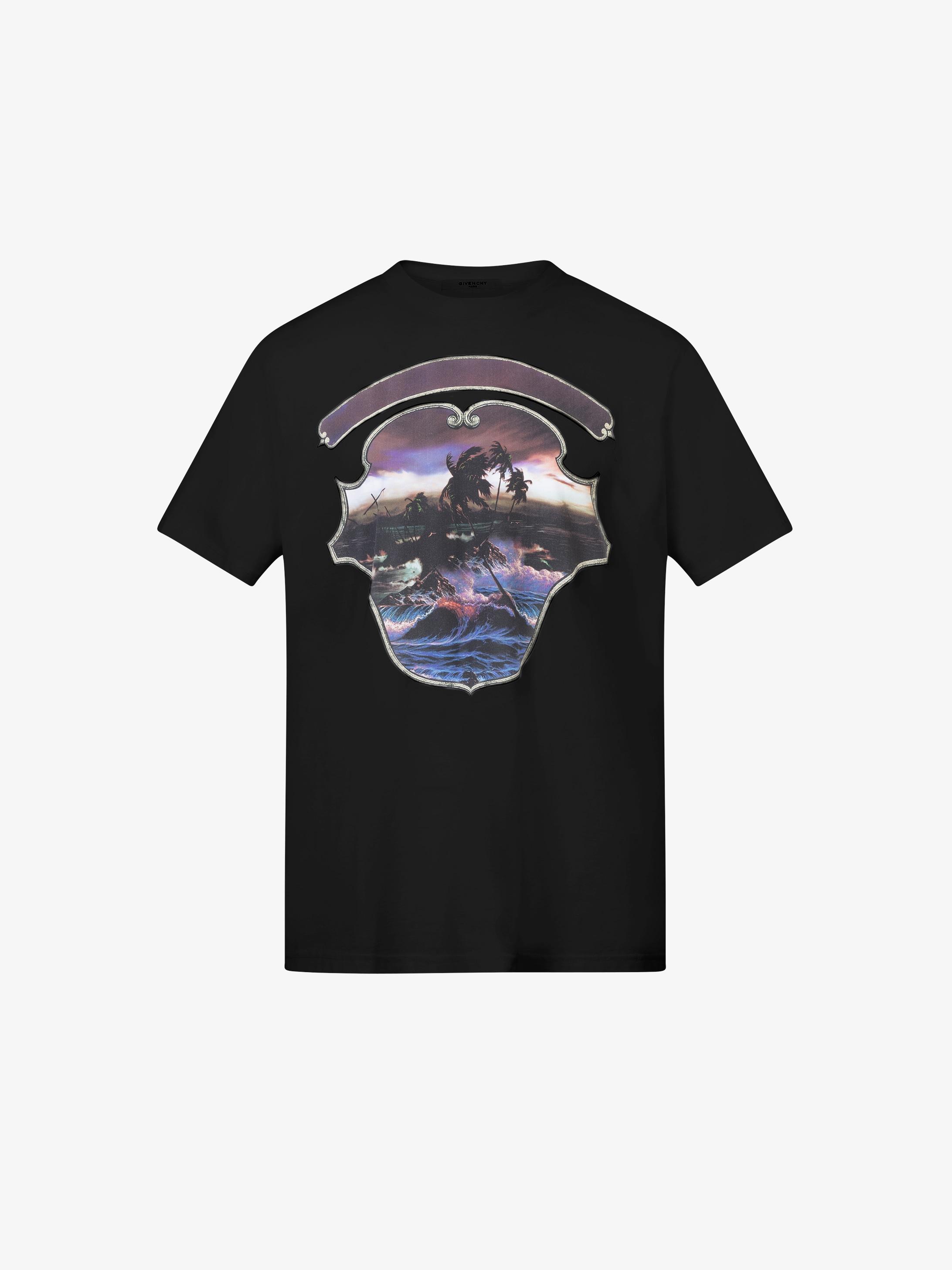 夏威夷图案印花T恤