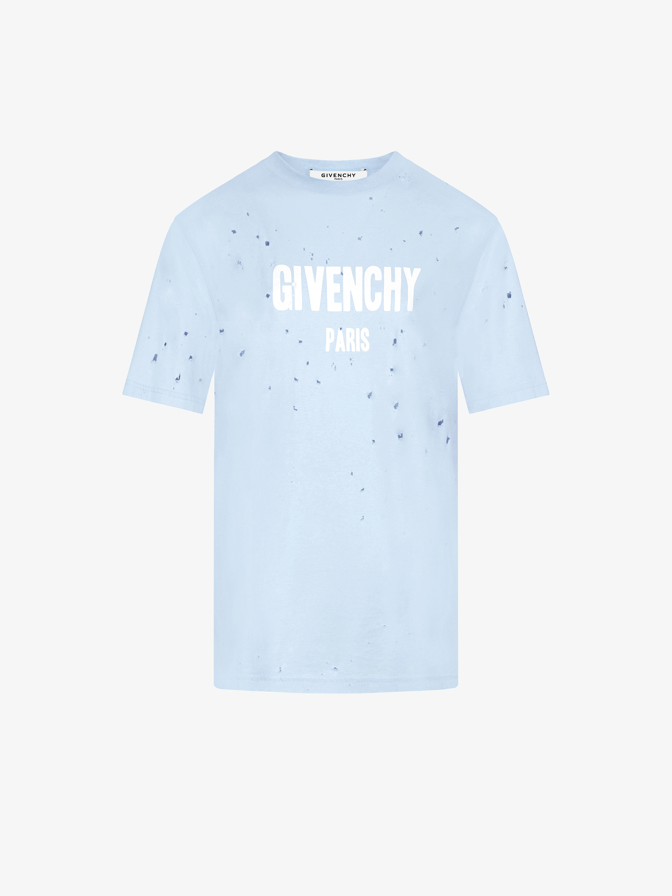 GIVENCHY PARIS oversized destroyed t-shirt