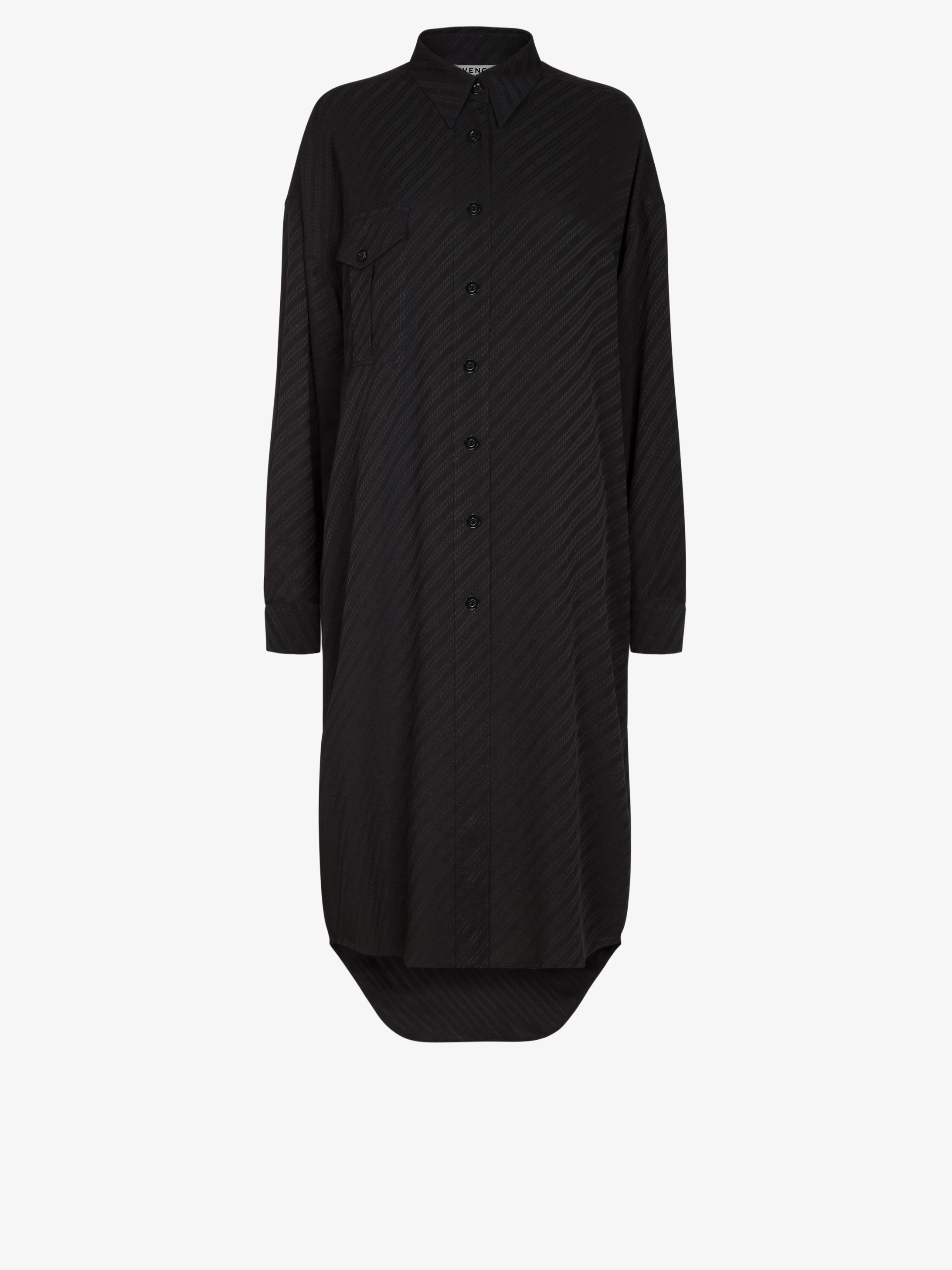 GIVENCHY Chain oversized shirt dress in jacquard
