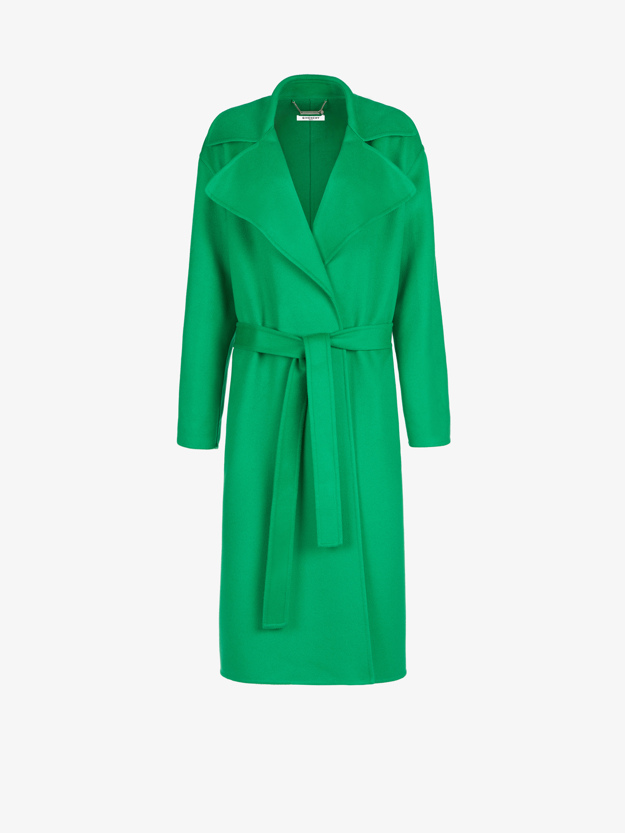 Oversized soft coat in cashmere