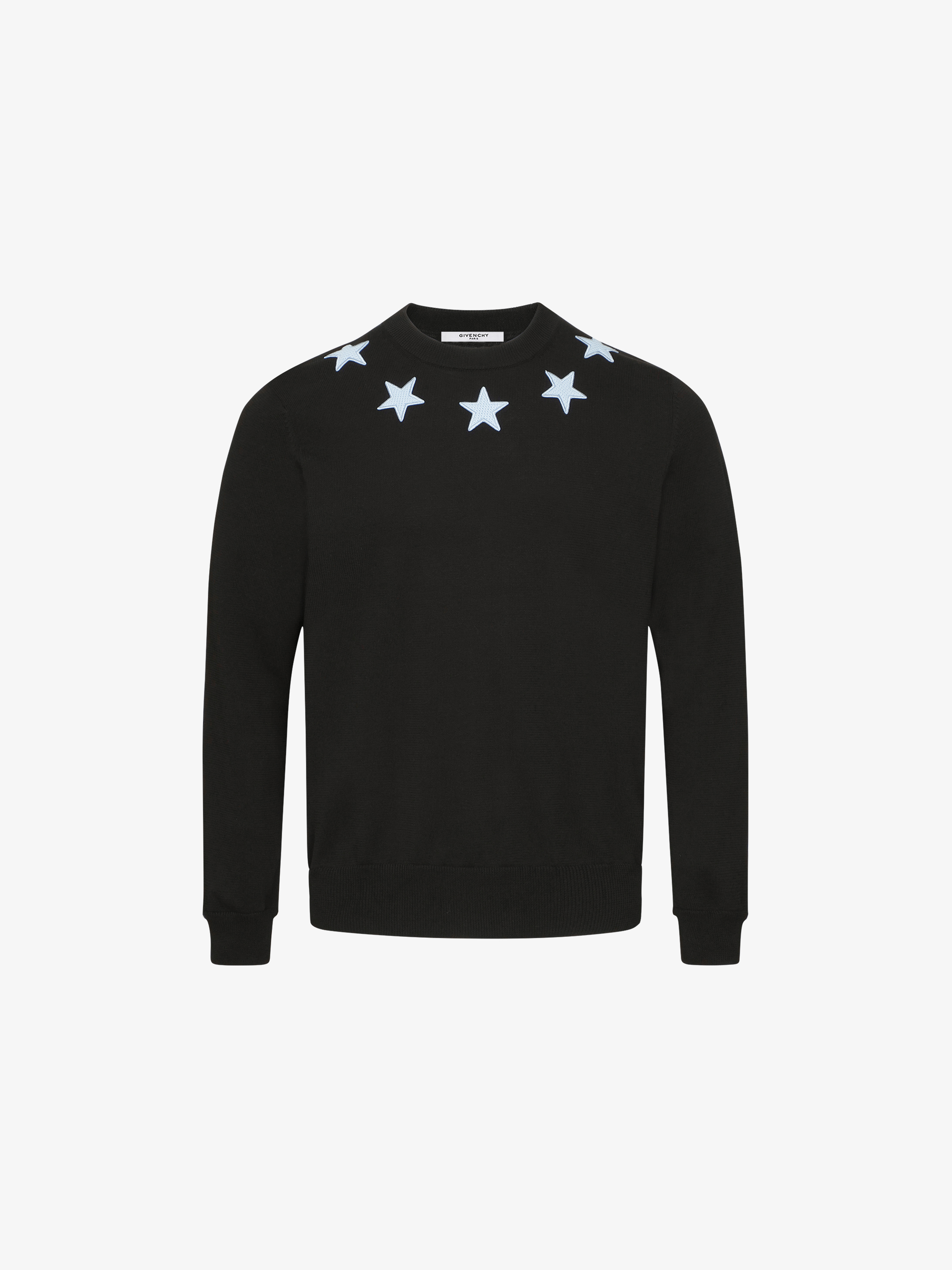 Contrasted star patches jumper
