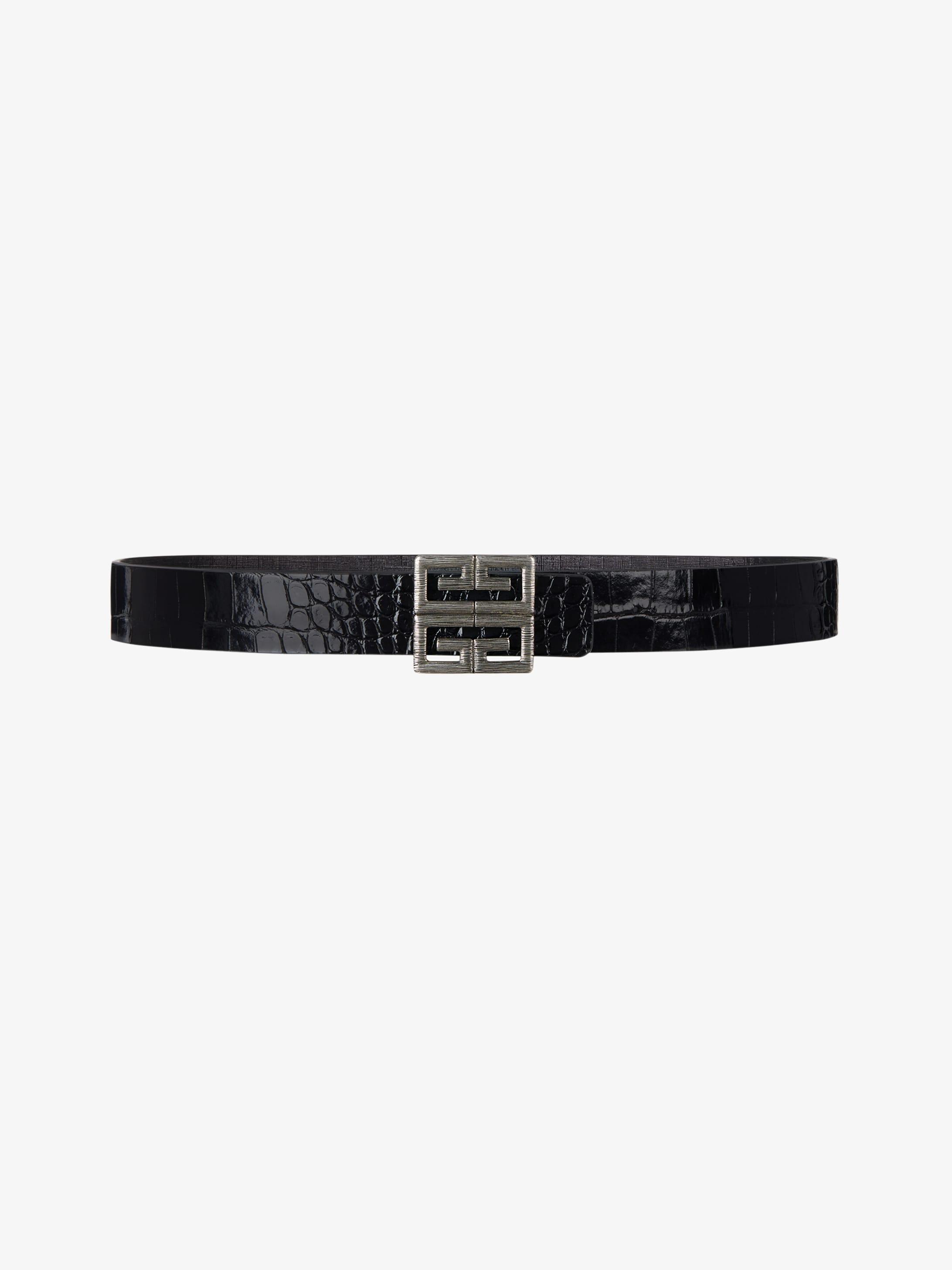 Cintura con fibbia 4G di pelle