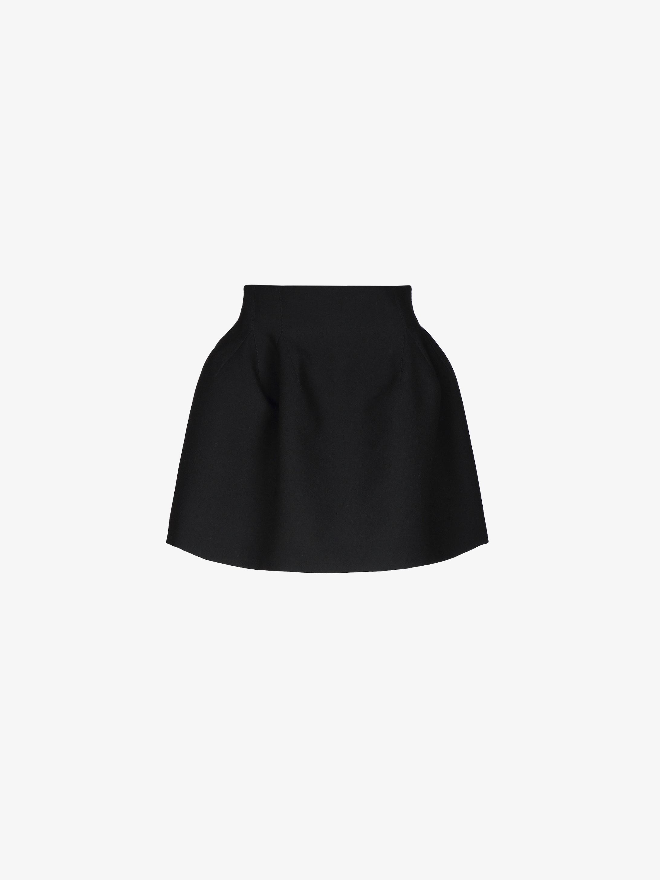 Mini basque skirt in crepe