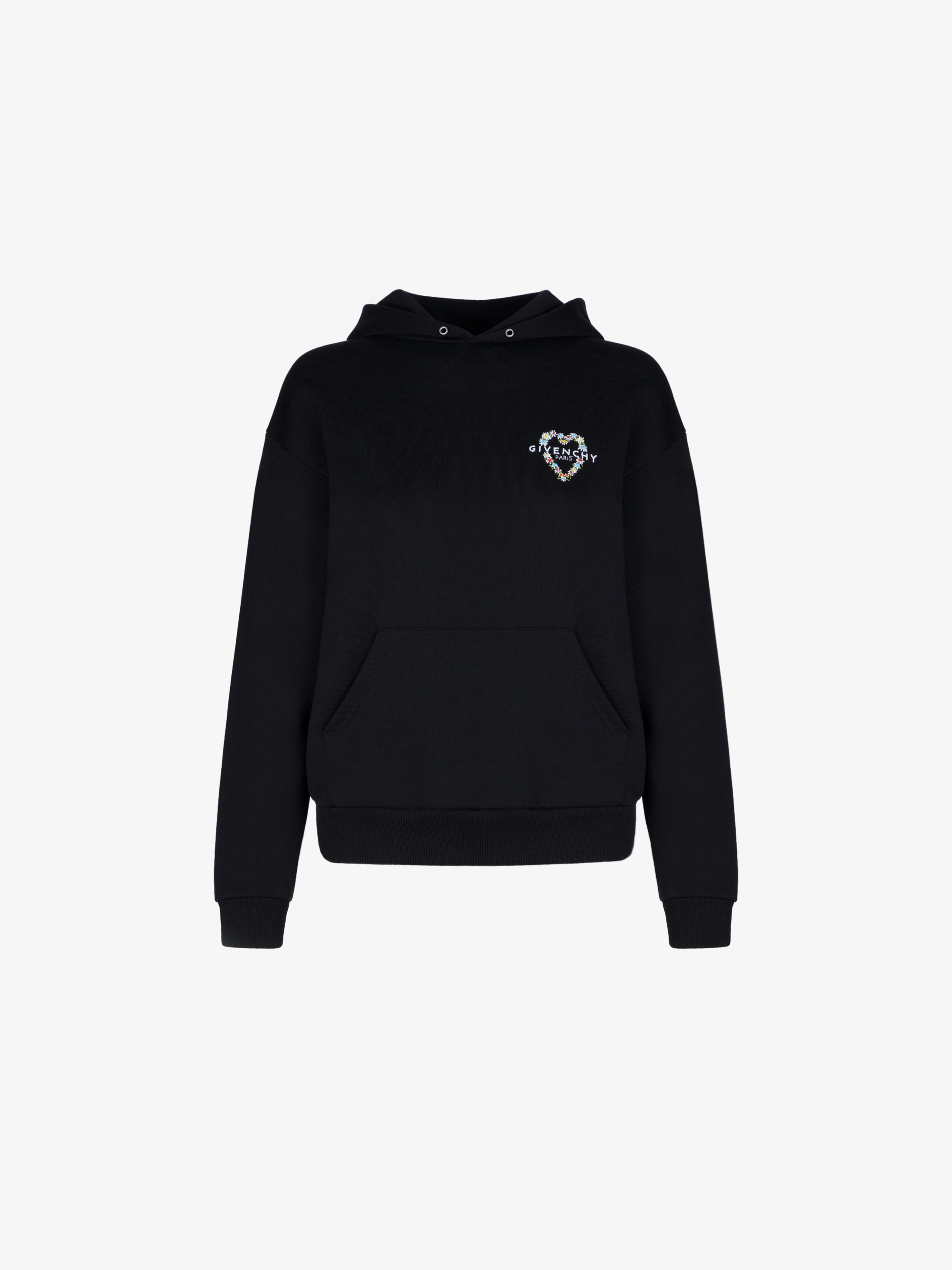 GIVENCHY heart embroidered hoodie