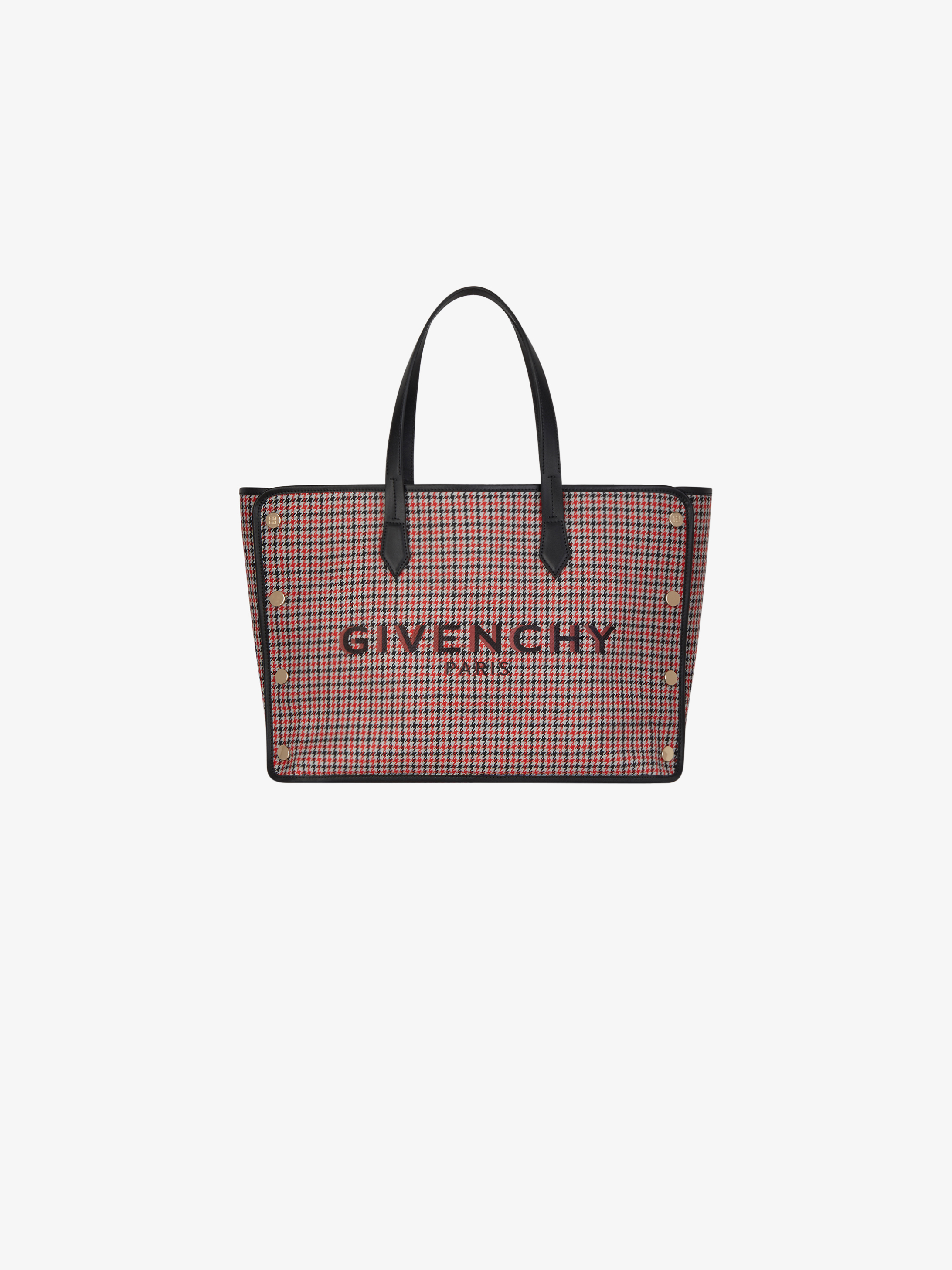 Medium Bond shopper in houndstooth wool
