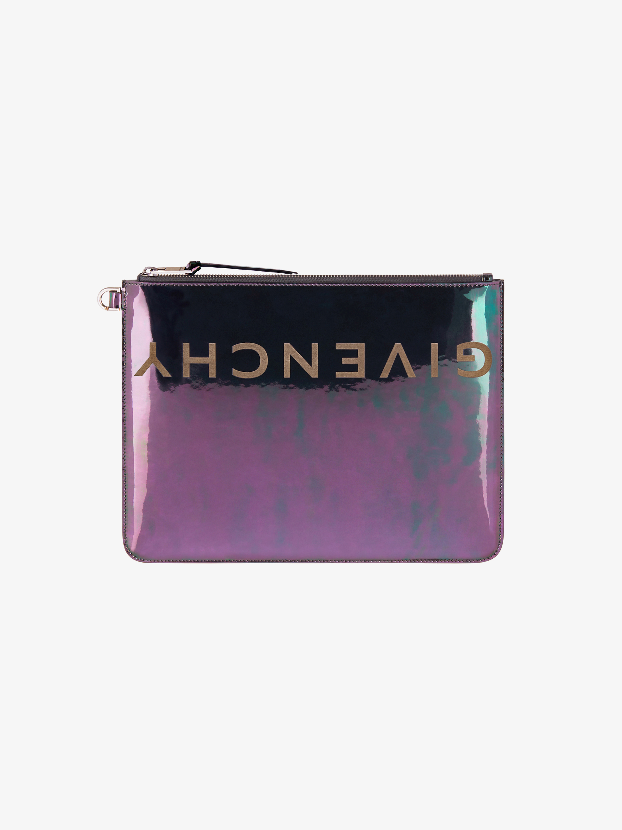 Reverse GIVENCHY large pouch in iridescent leather