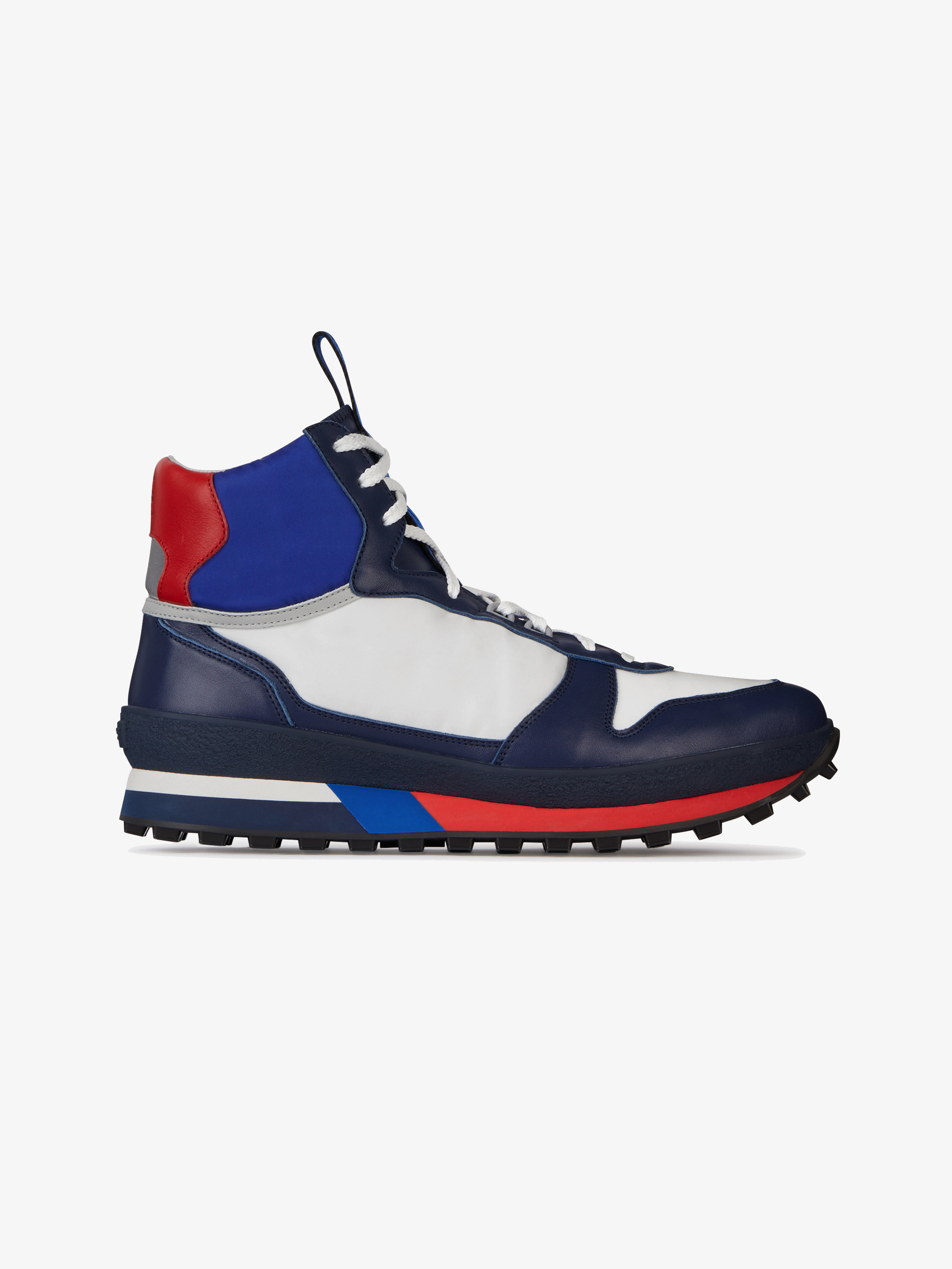 Runner sneakers in leather and nylon
