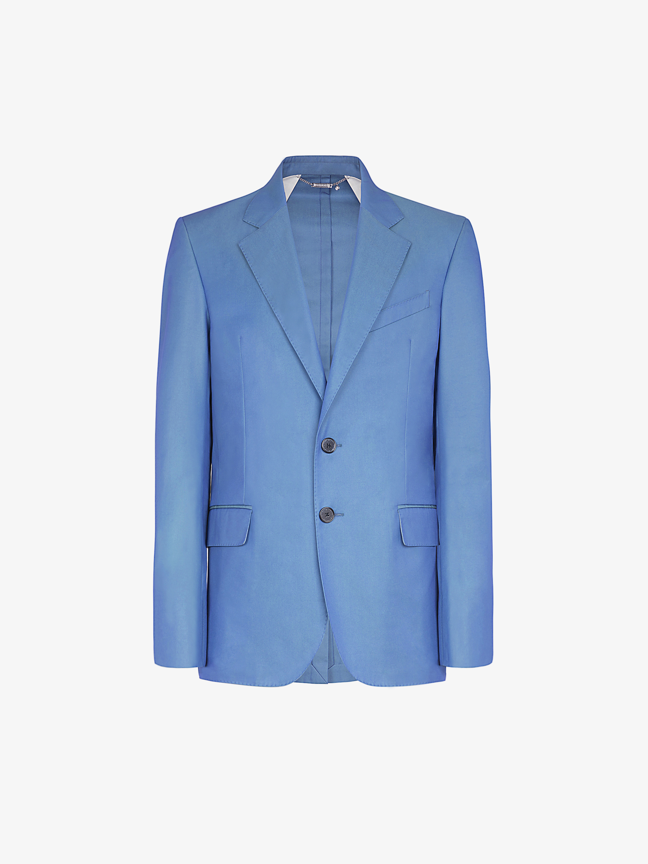 Jacket in technical iridescent cotton