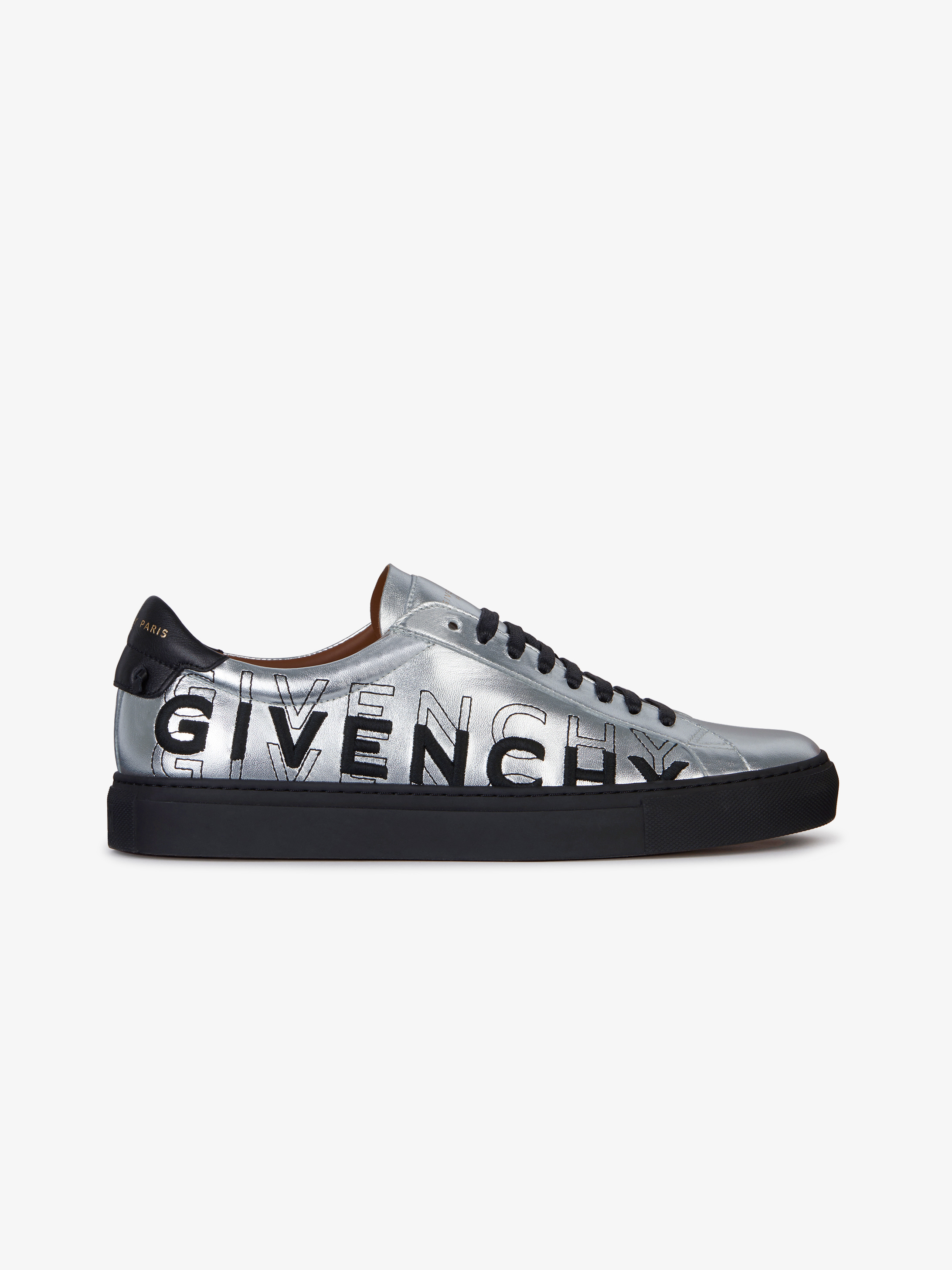 GIVENCHY shading sneakers in metallized leather