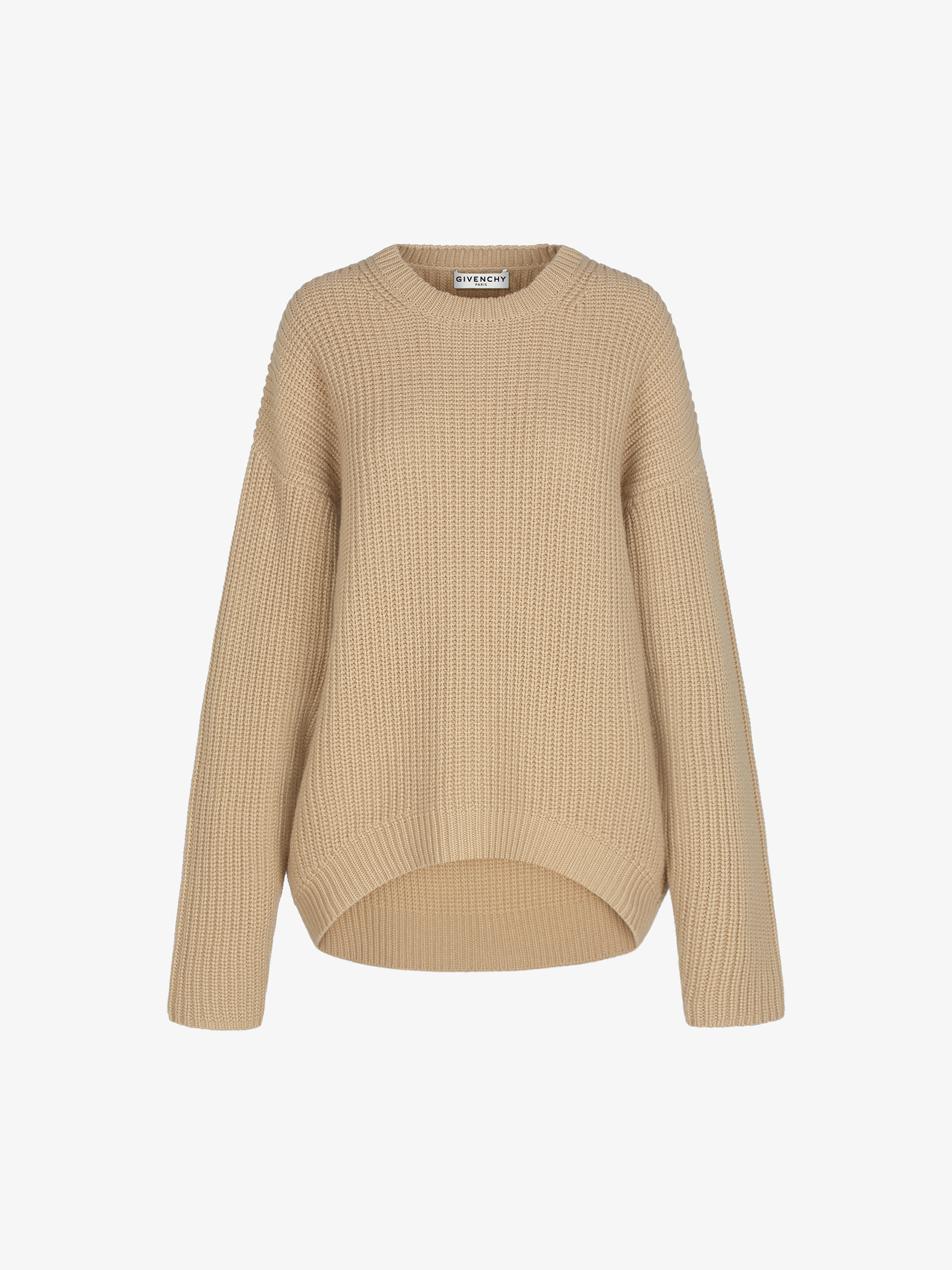 Pullover oversize in cashmere a coste