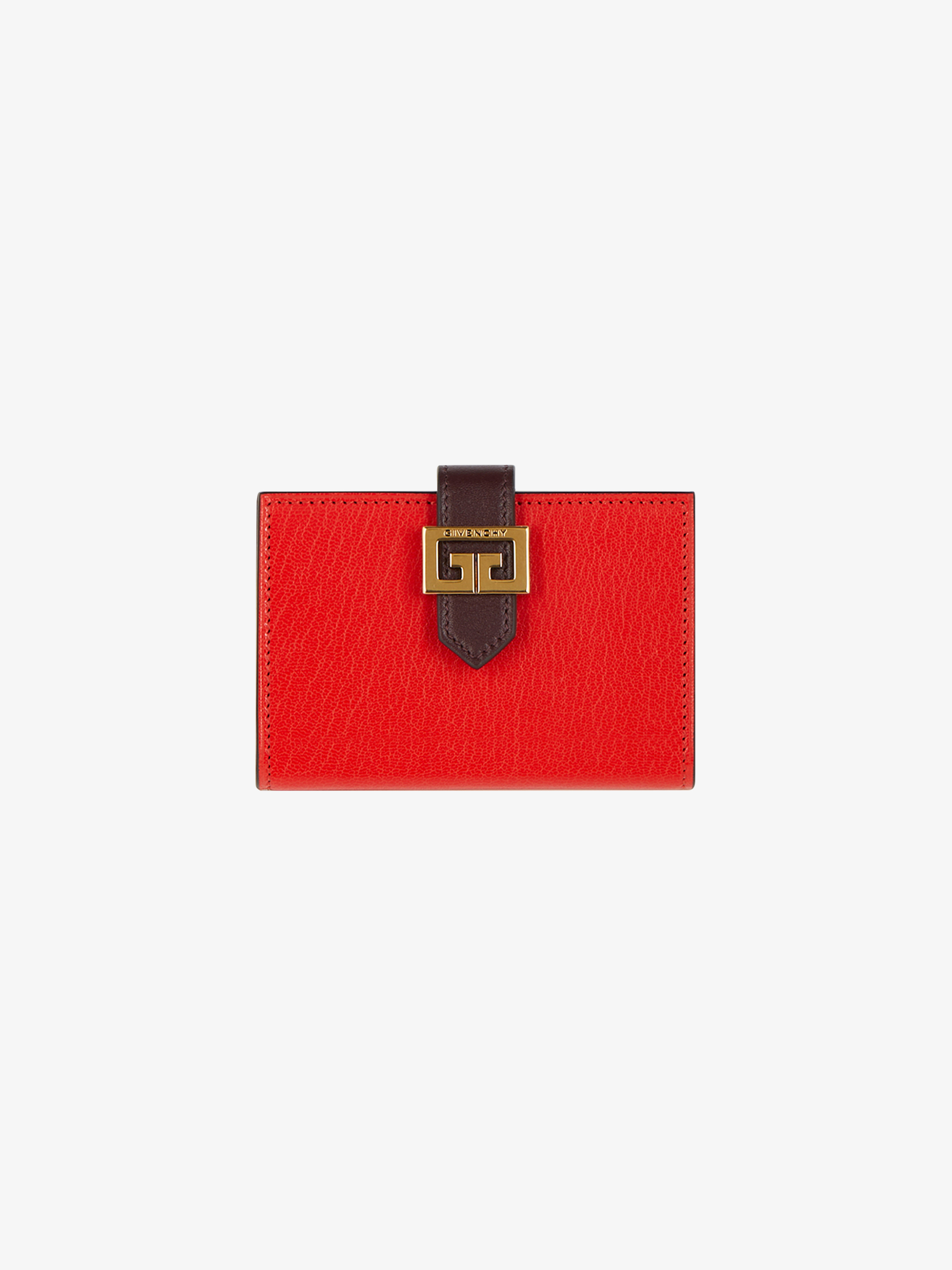 Two-tone GV3 card holder in grained leather