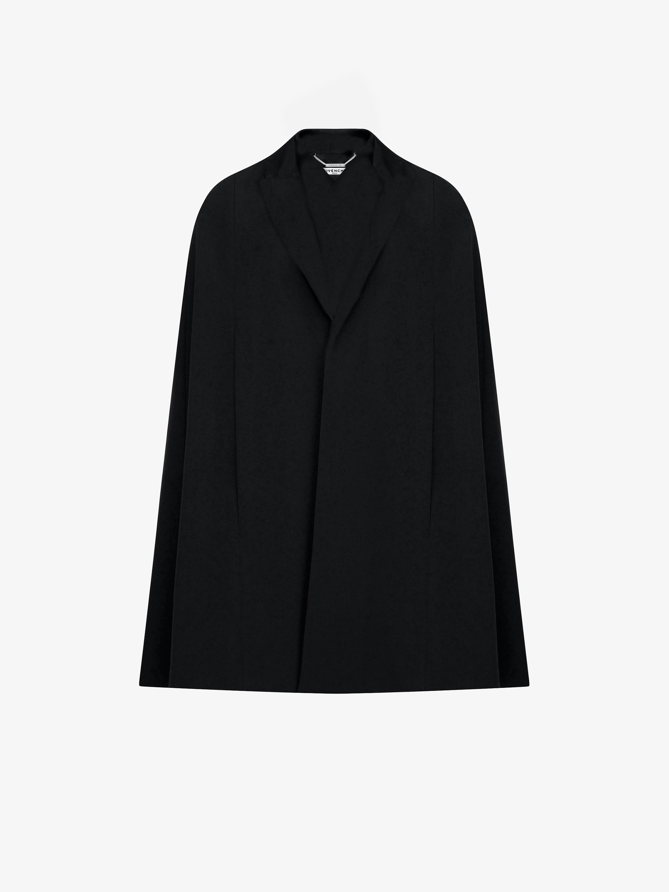 Cashmere cape-coat