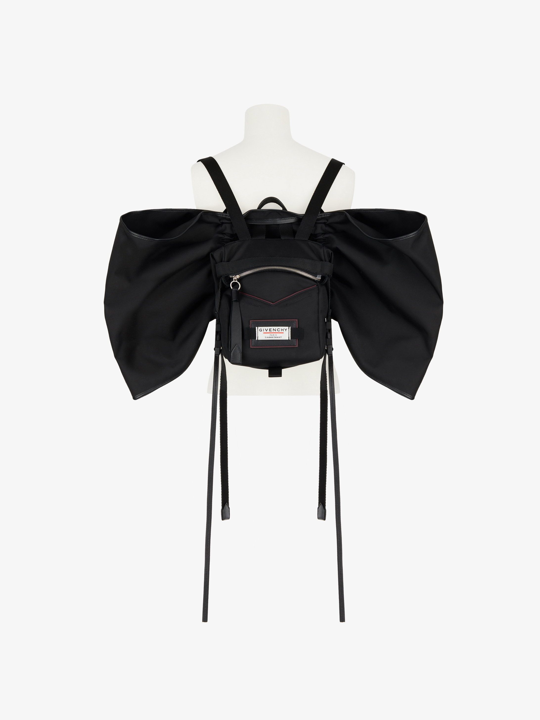 GIVENCHY Downtown mini backpack in nylon with wings