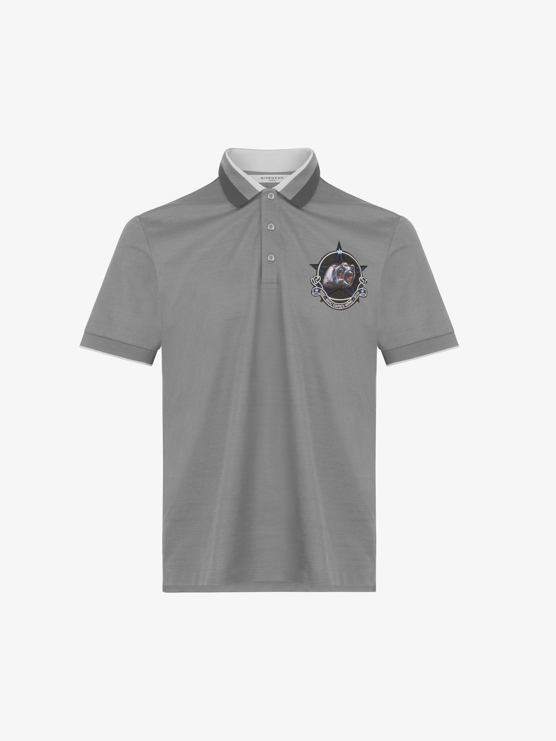 Monkey patch polo shirt in cotton