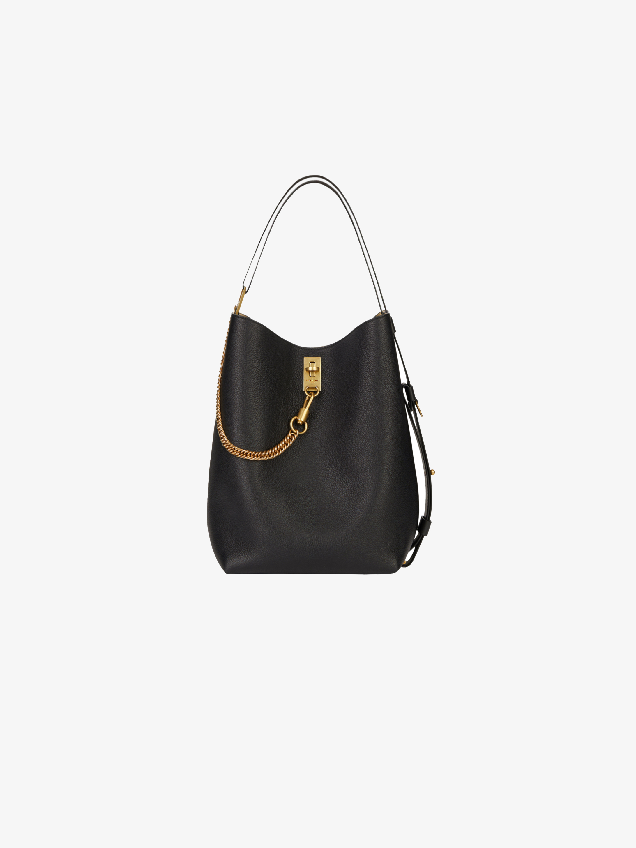GV bucket bag in grained leather