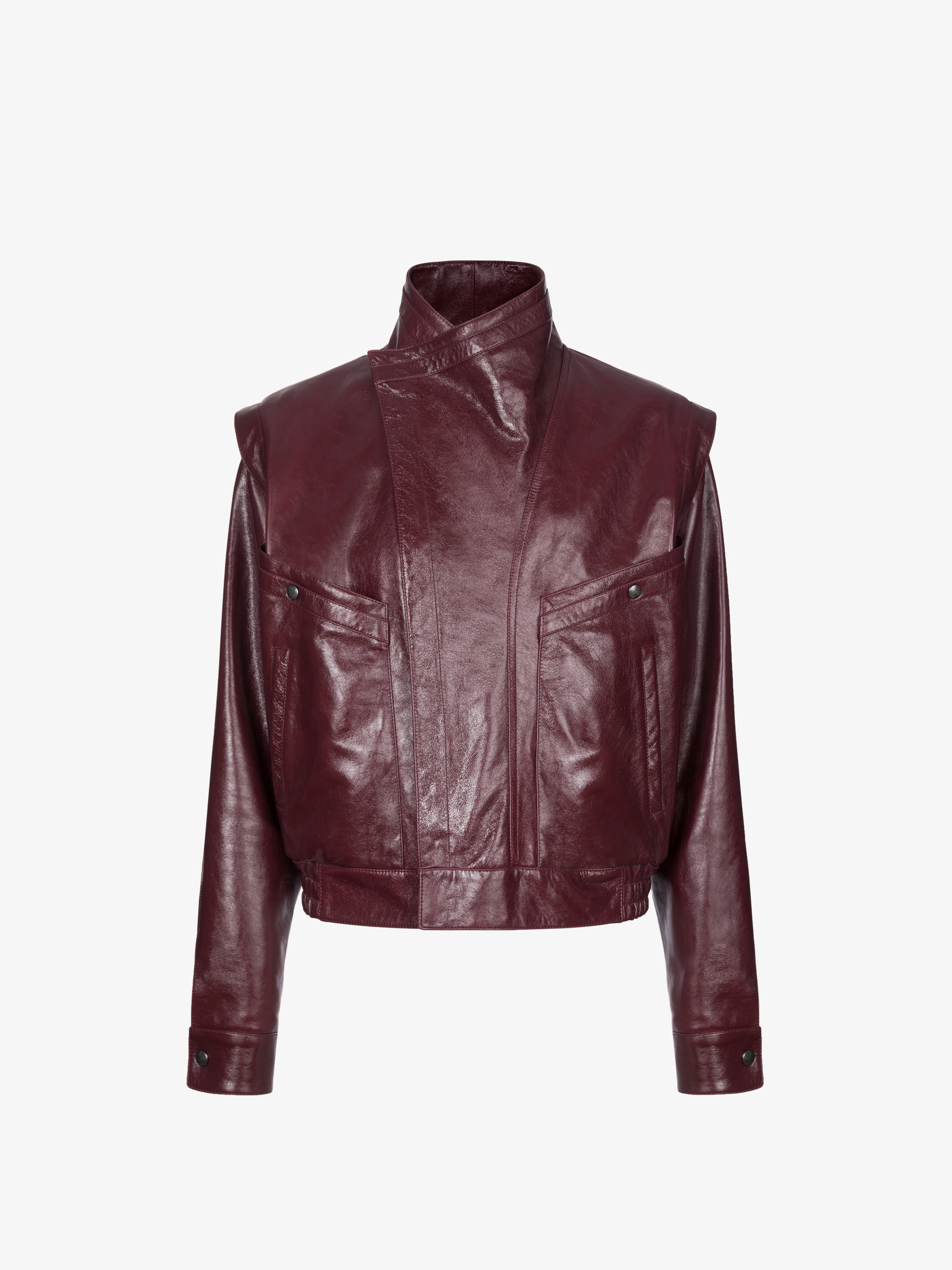 Graphic Vintage leather casual jacket