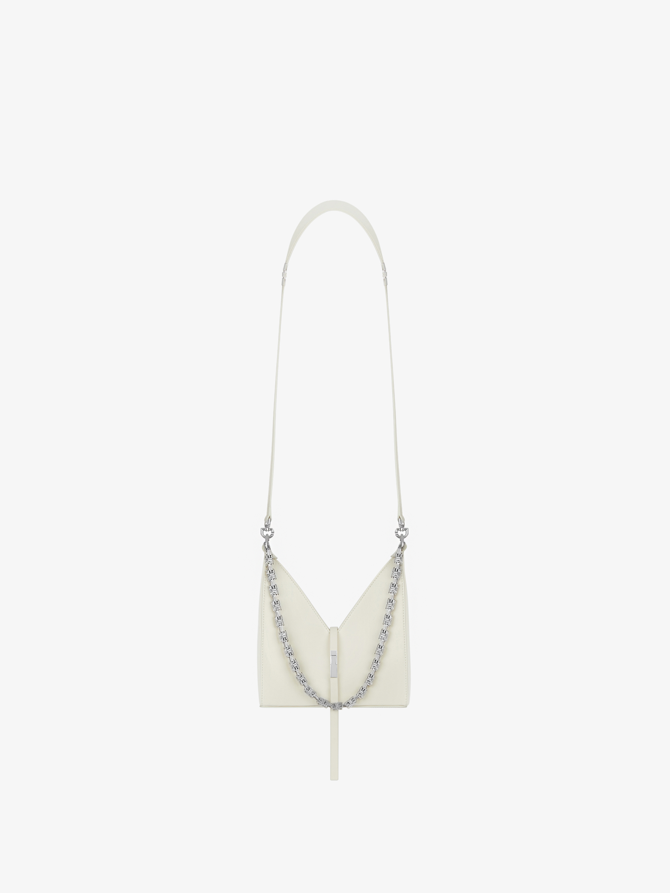 Mini Cut Out bag in box leather with chain