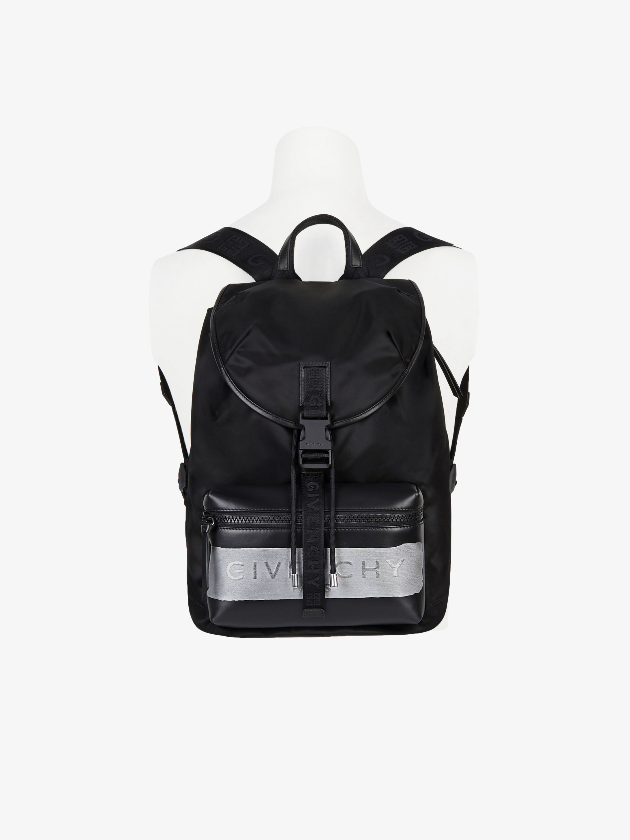 GIVENCHY backpack in nylon with latex band
