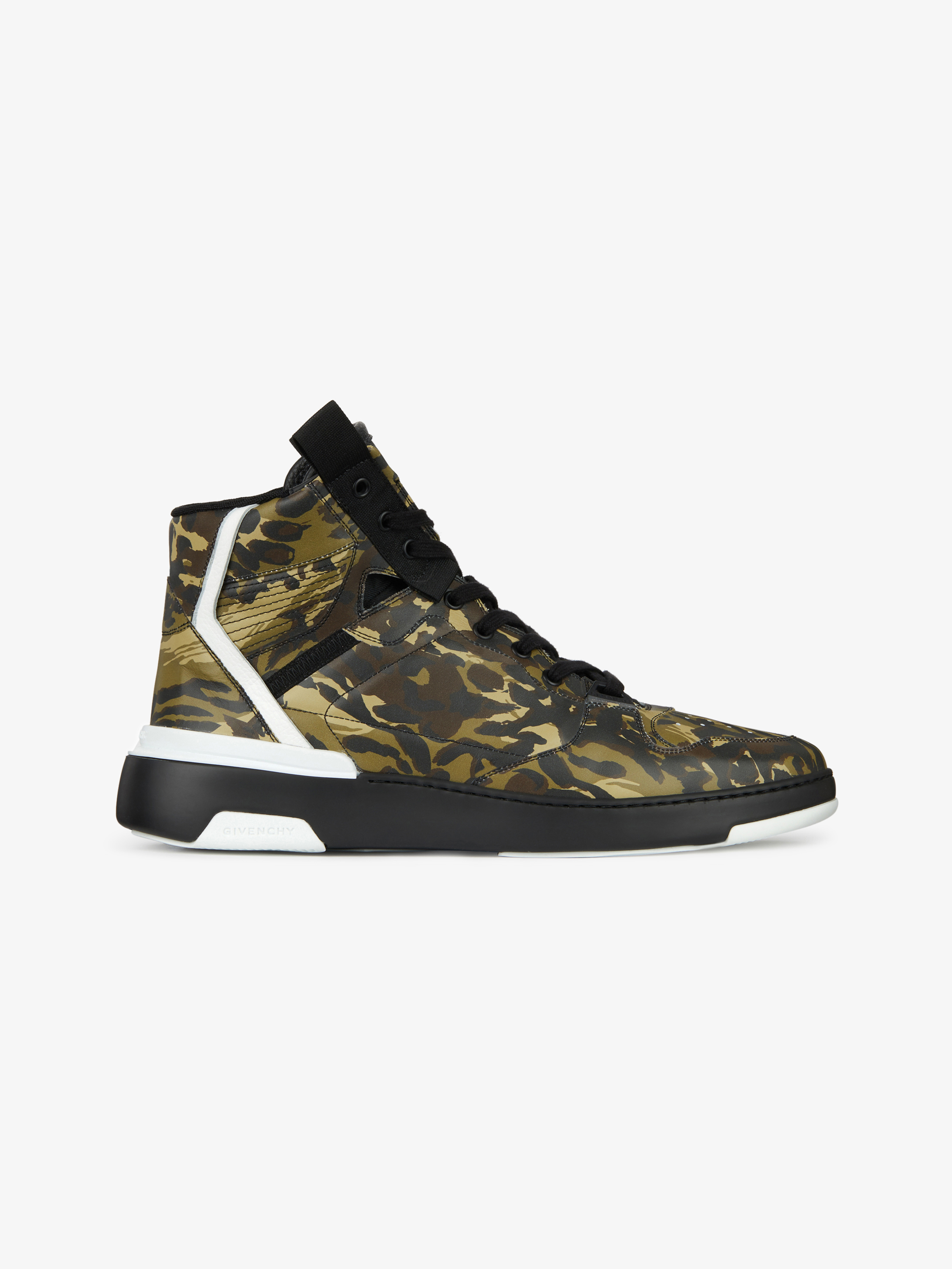 WING high sneakers in camo leather