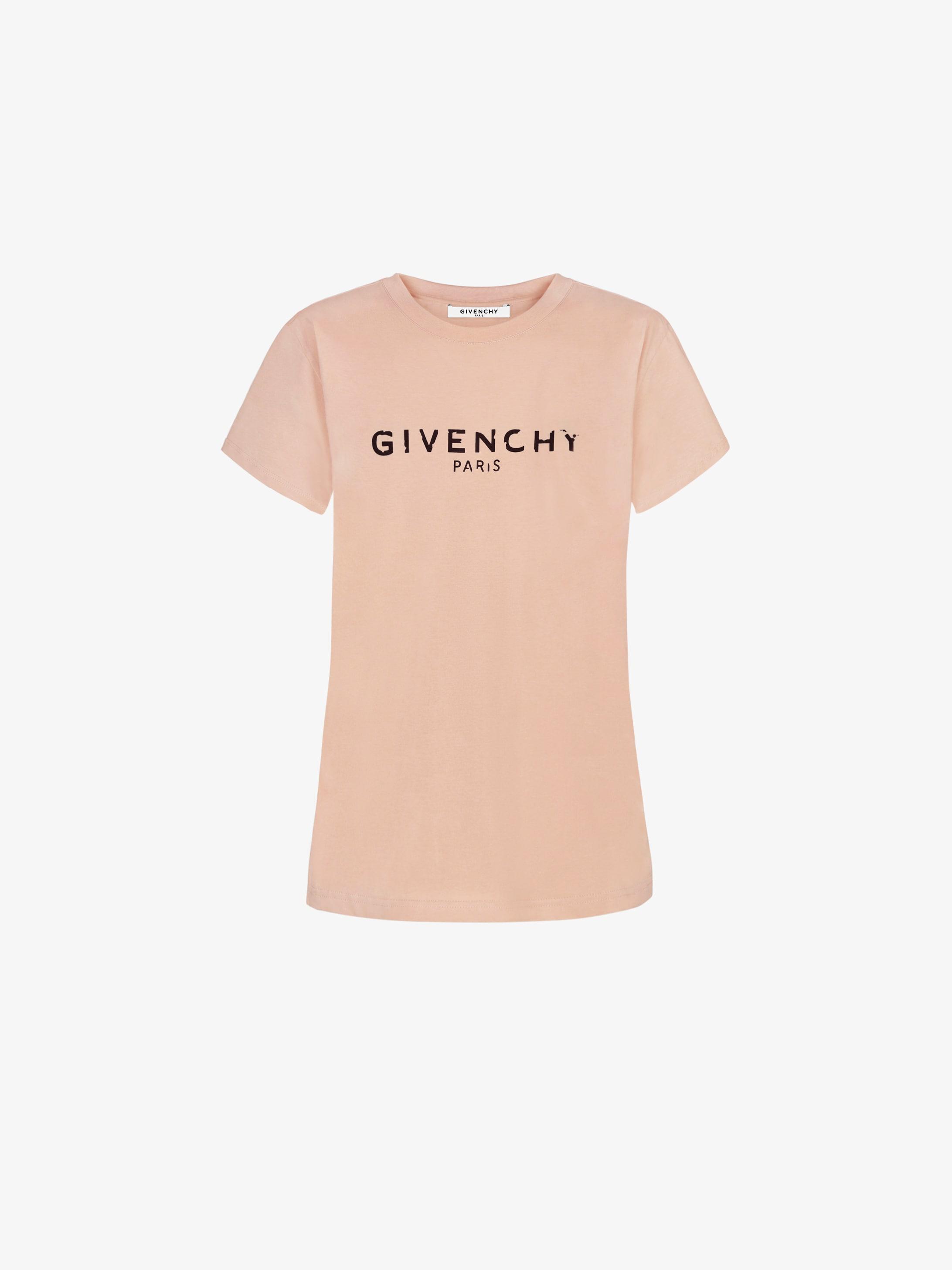 T-shirt aderente Givenchy Paris vintage