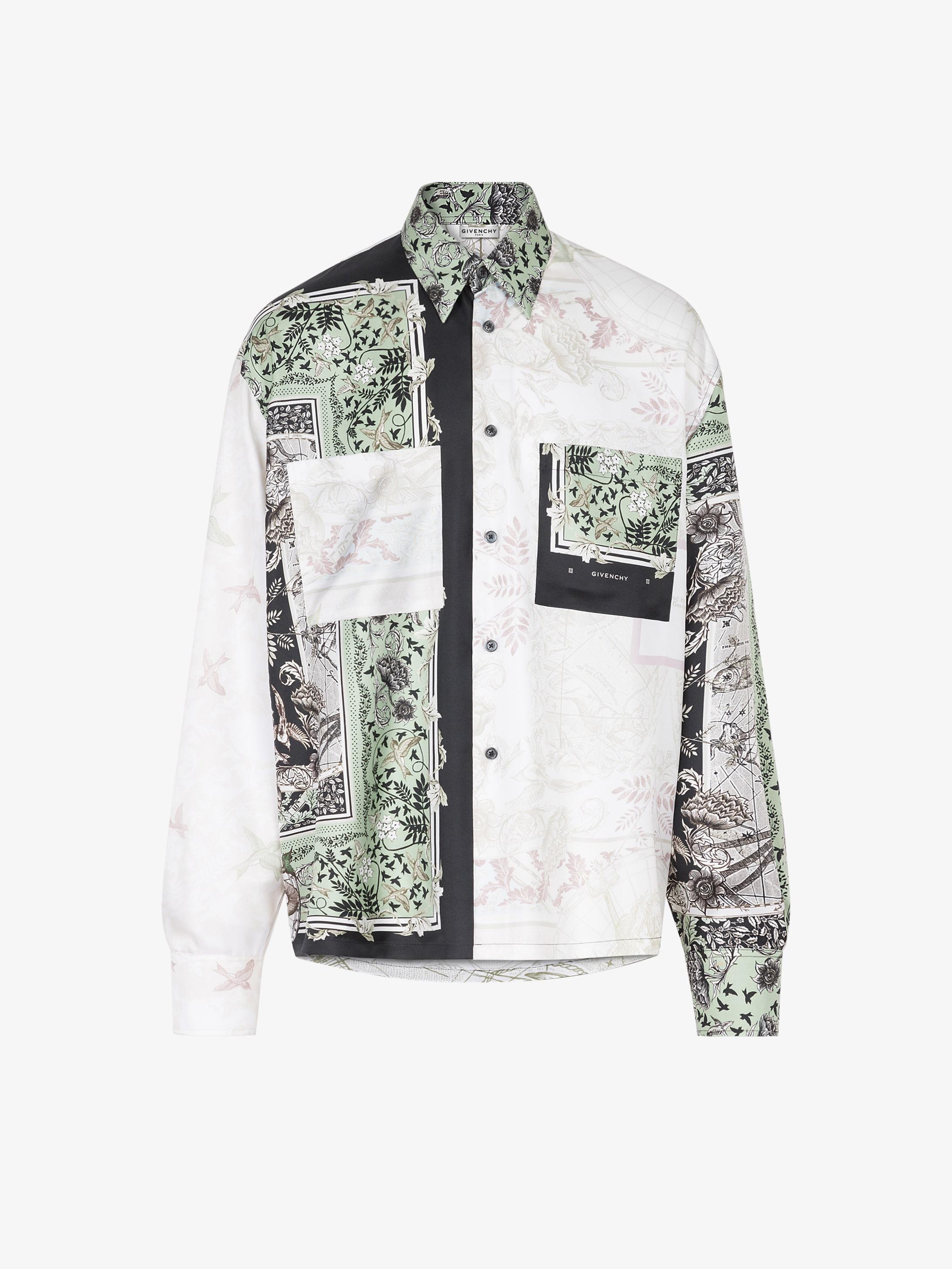 Atlantis patchwork printed shirt