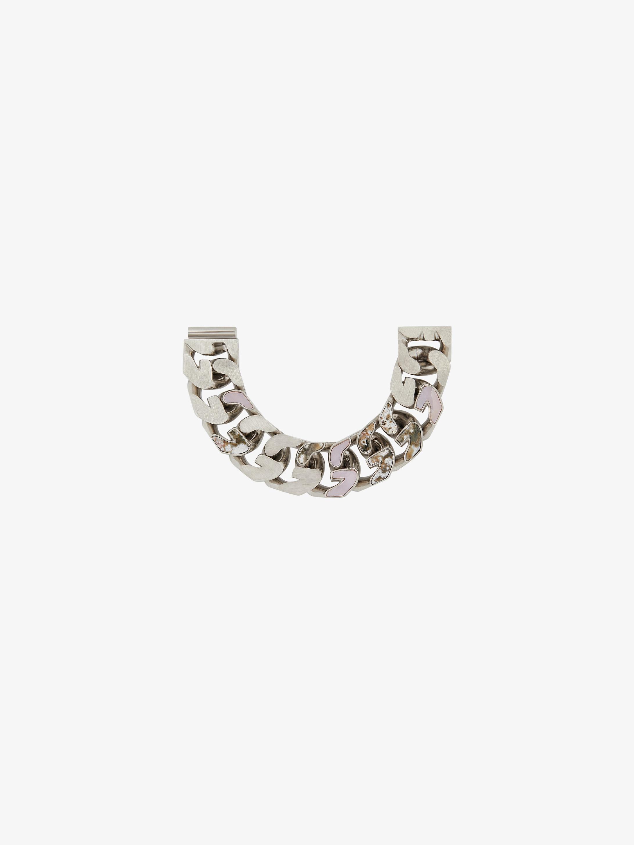 Bracciale G Chain incastonato di opali e diaspri
