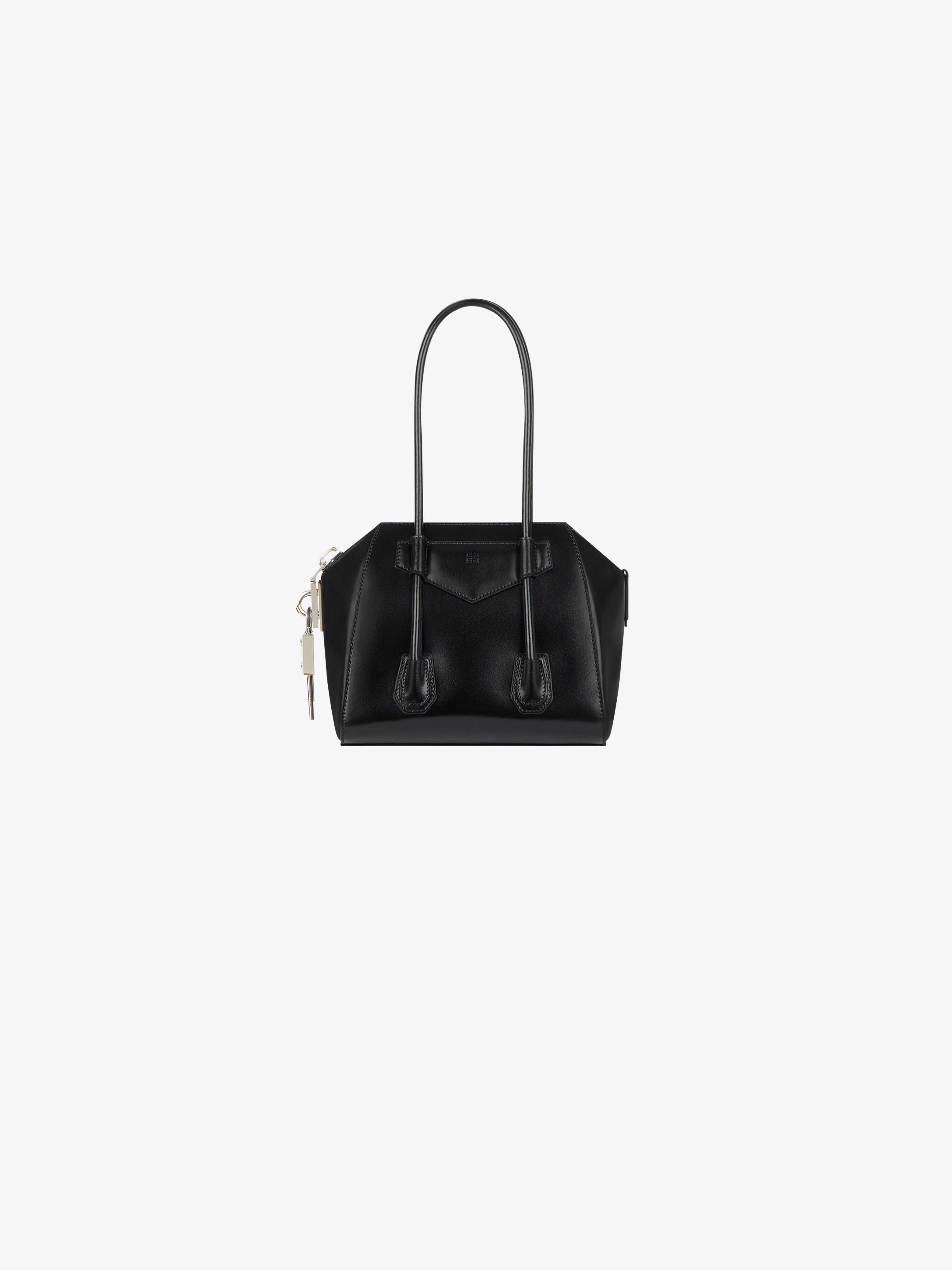 Mini Antigona Lock bag in box leather