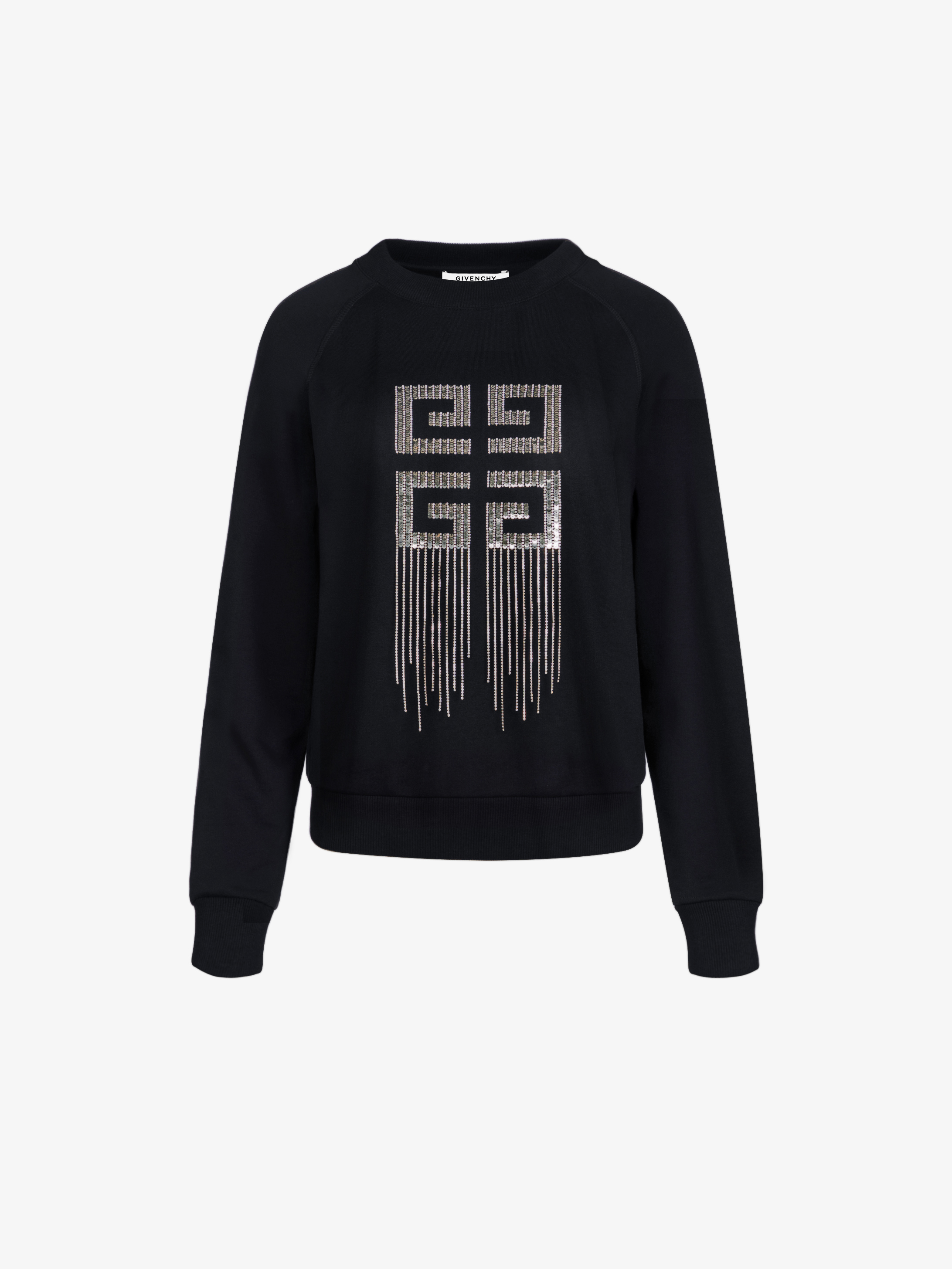 4G embroidery sweatshirt in sequins and crystals