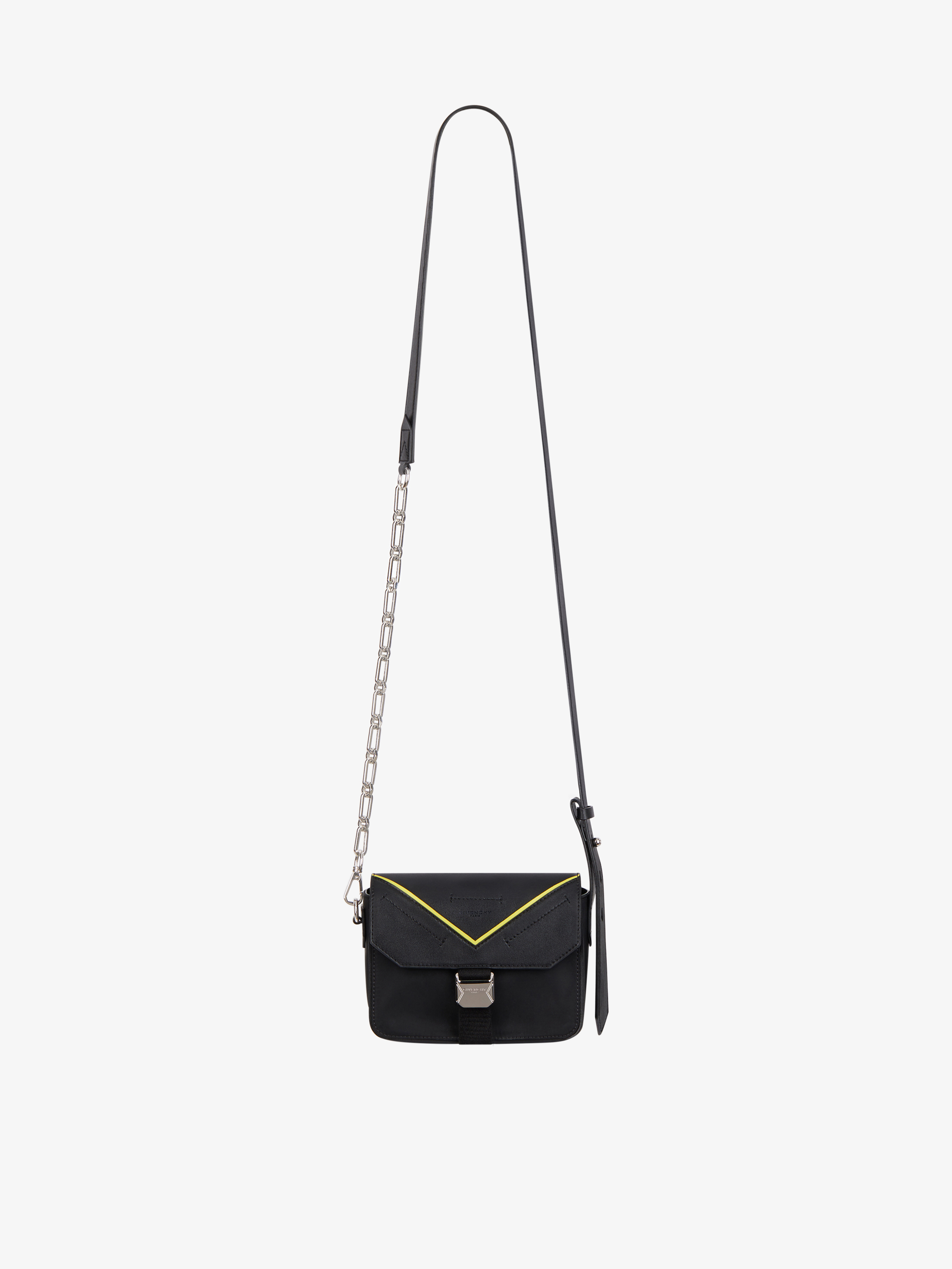 GIVENCHY PARIS Bond crossbody bag in nylon and leather