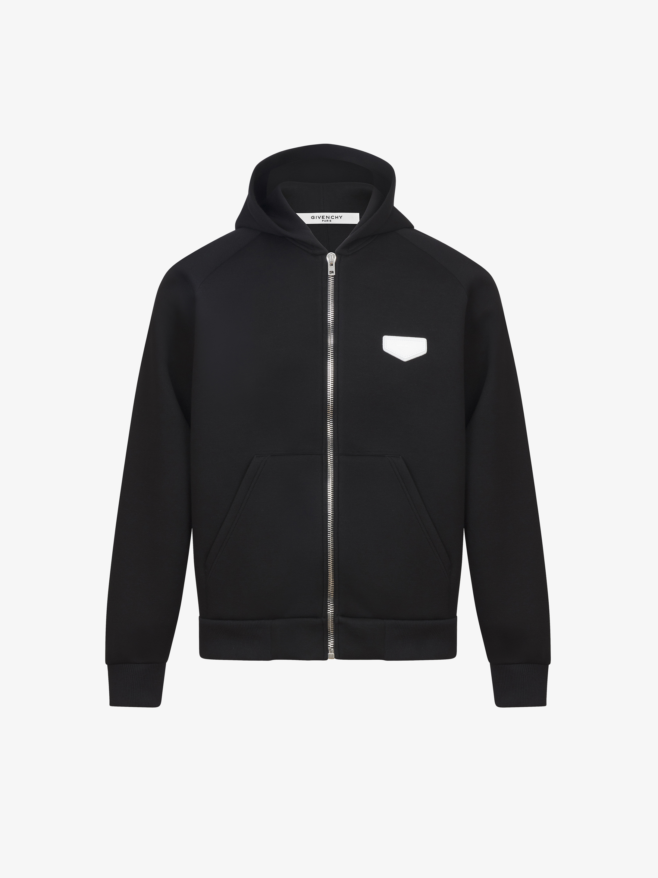 GIVENCHY patch hoodie in neoprene