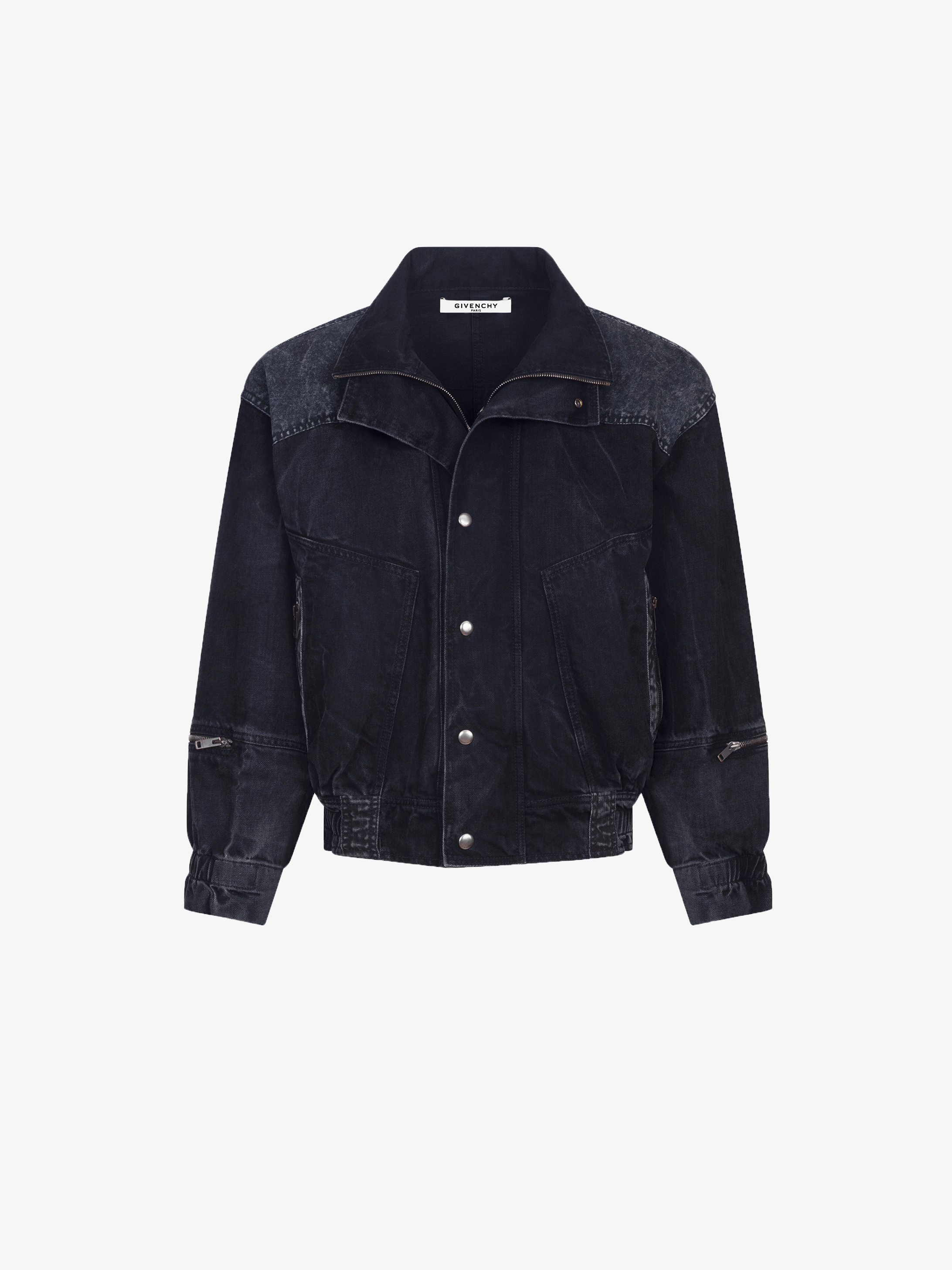 Oversized jacket with double collar