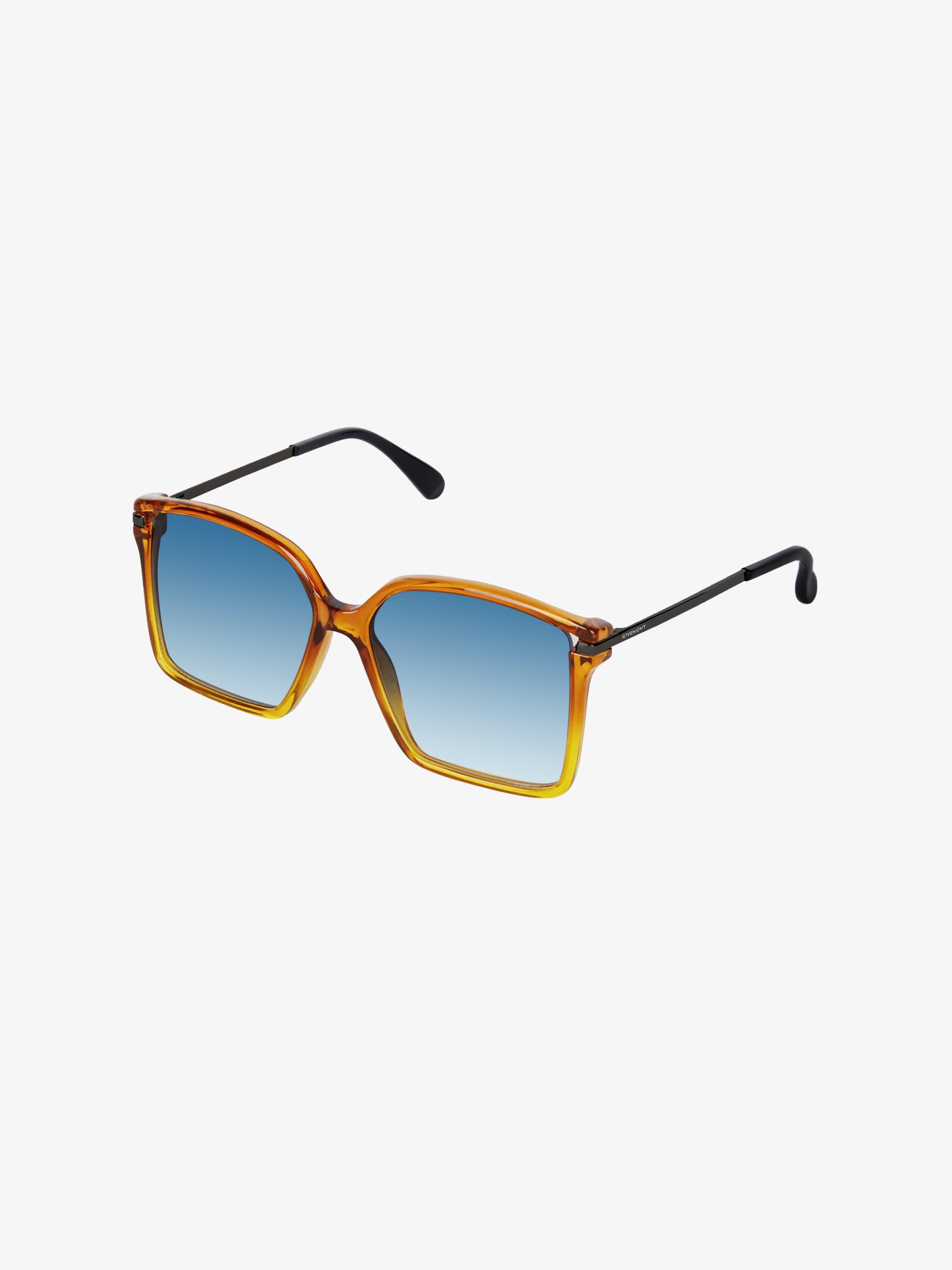 Square sunglasses in acetate and metal