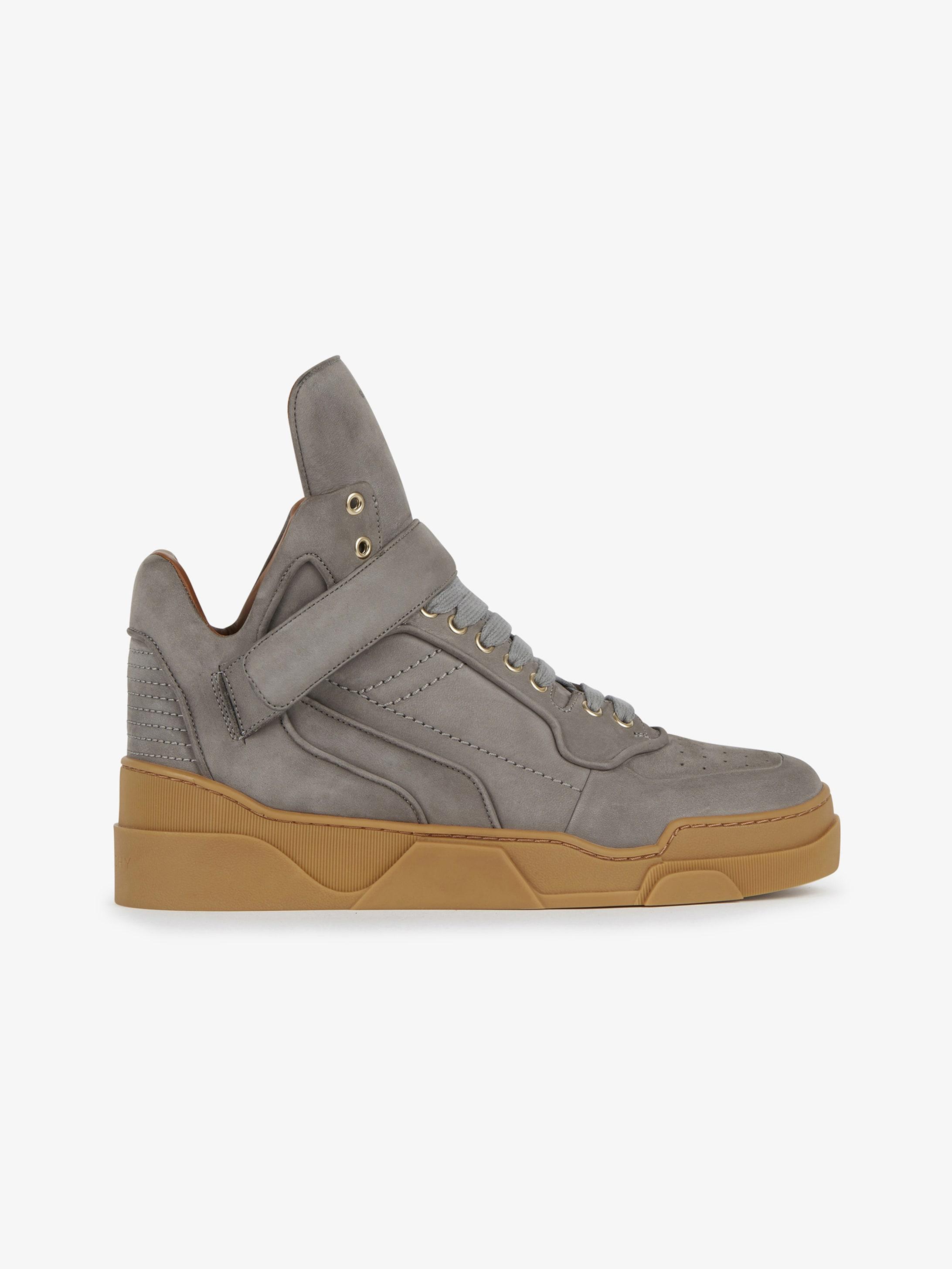 High sneakers in nubuck