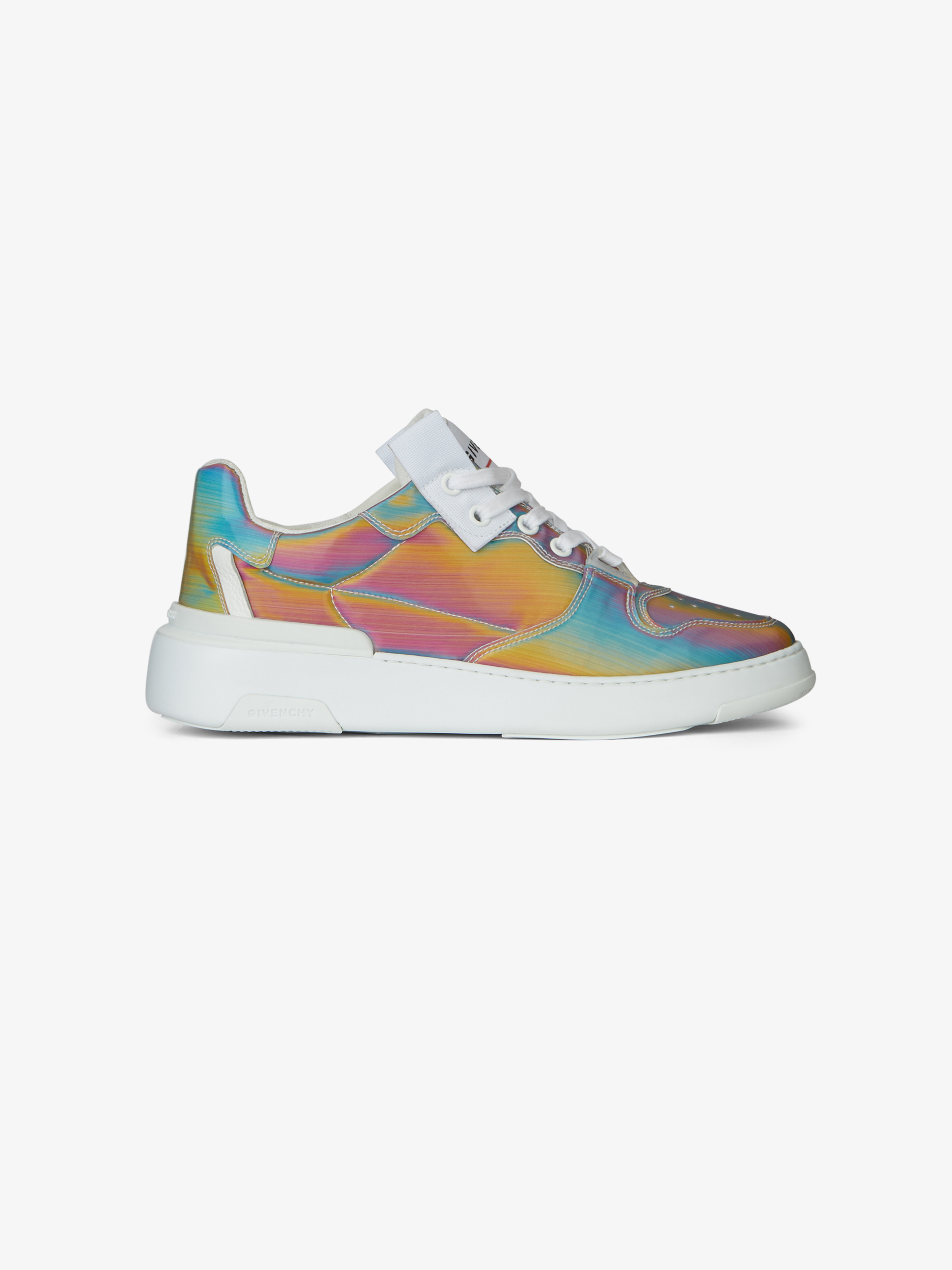 Sneakers basses Wing en toile holographique