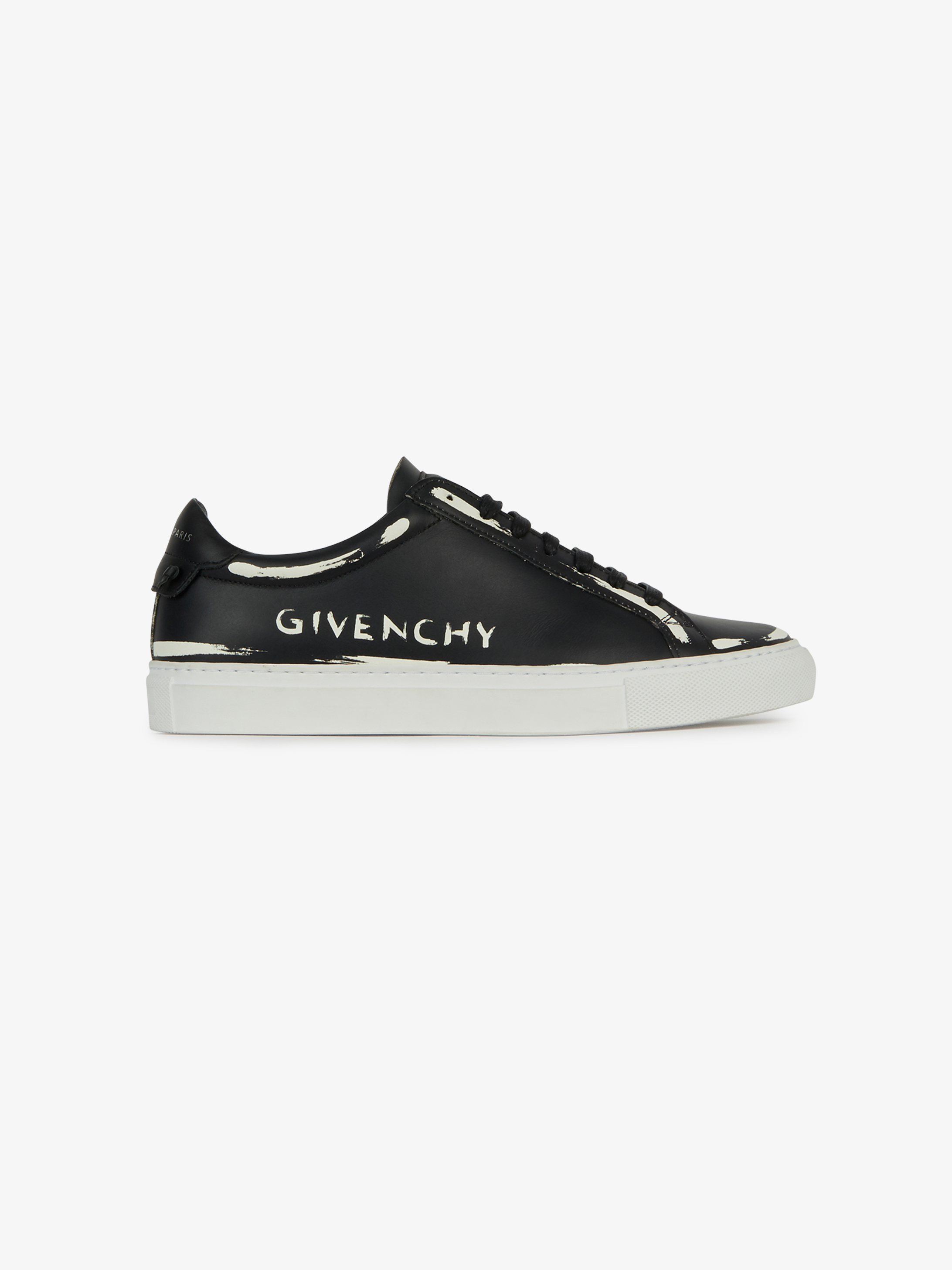 GIVENCHY print sneakers in leather