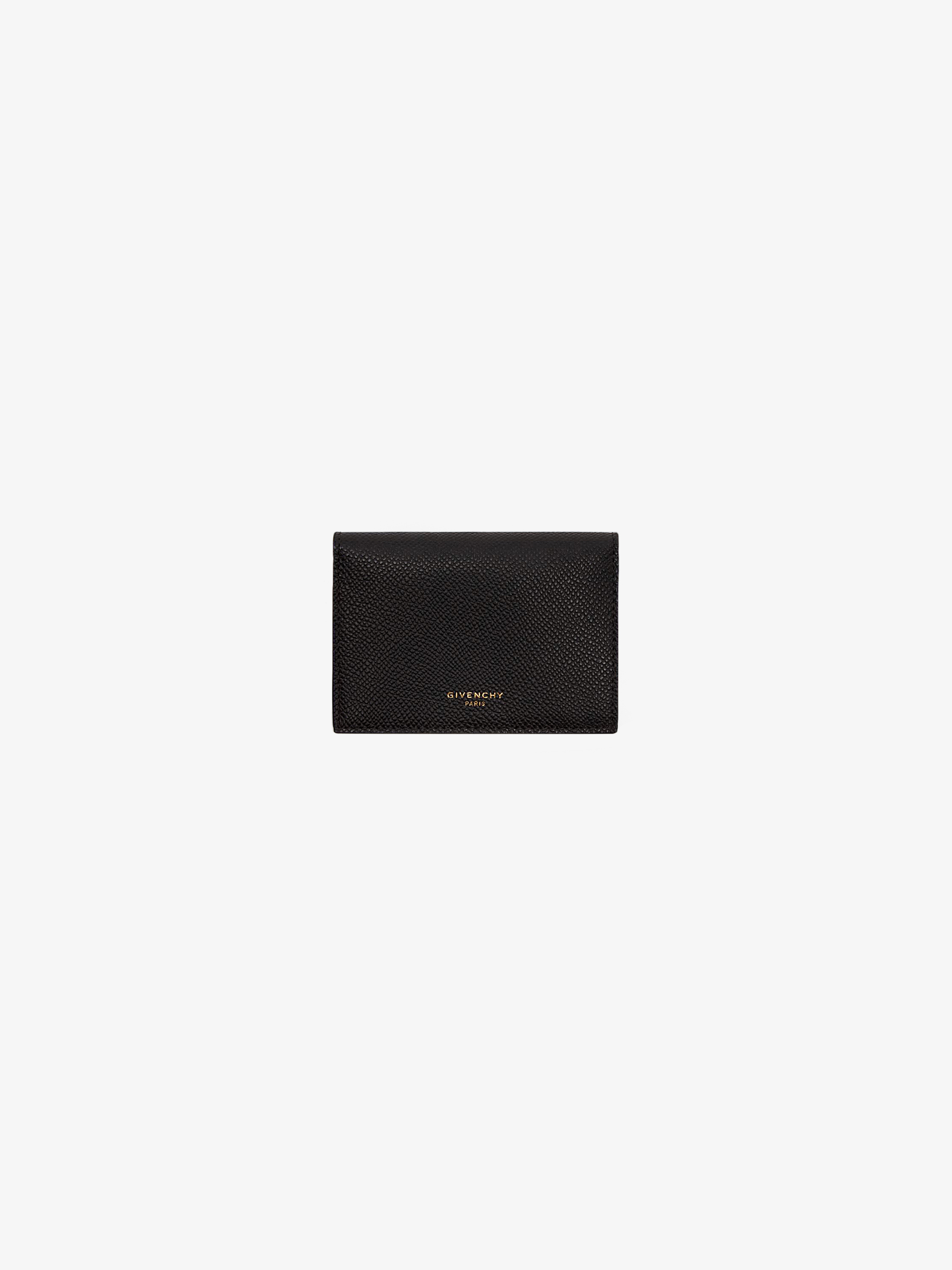 Business card case GIVENCHY PARIS in leather