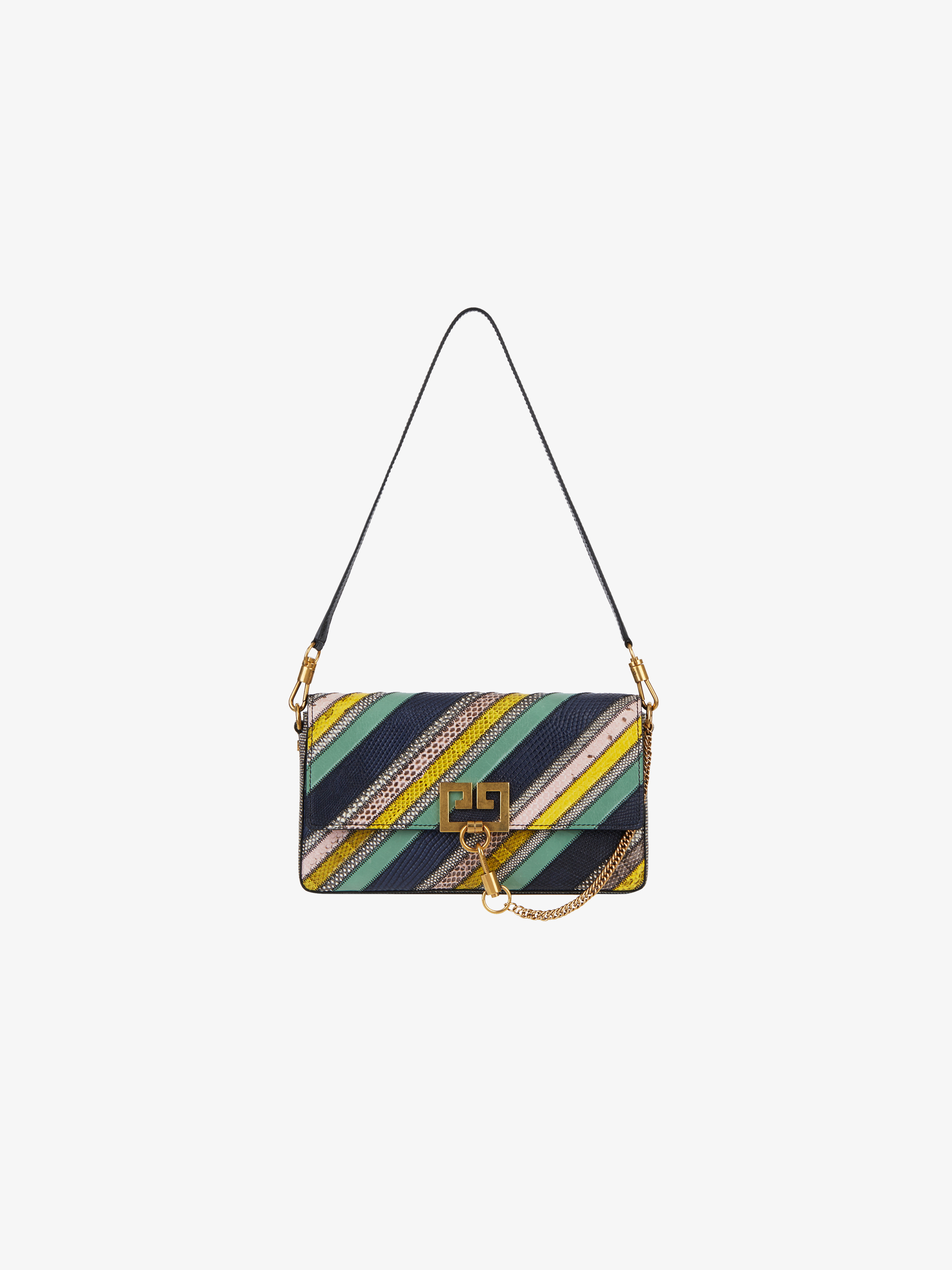 Multicolored patchwork Charm bag in exotic skins
